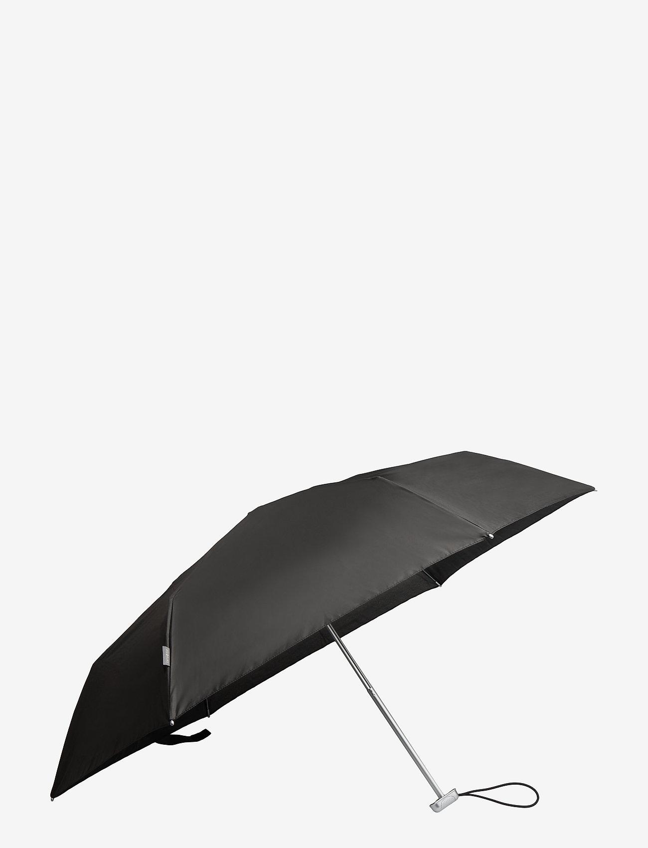 Samsonite - Alu Drop S 3 Sect. Manual Flat - paraplyer - black - 0