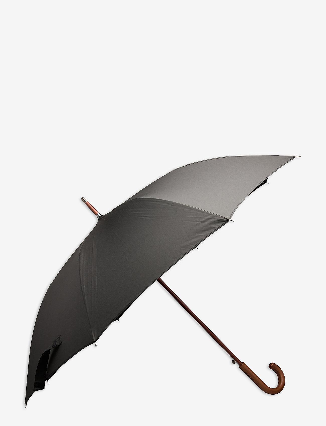 Samsonite - WOOD CLASSIC S-STICK MAN AUTO OPEN - paraplyer - black - 0