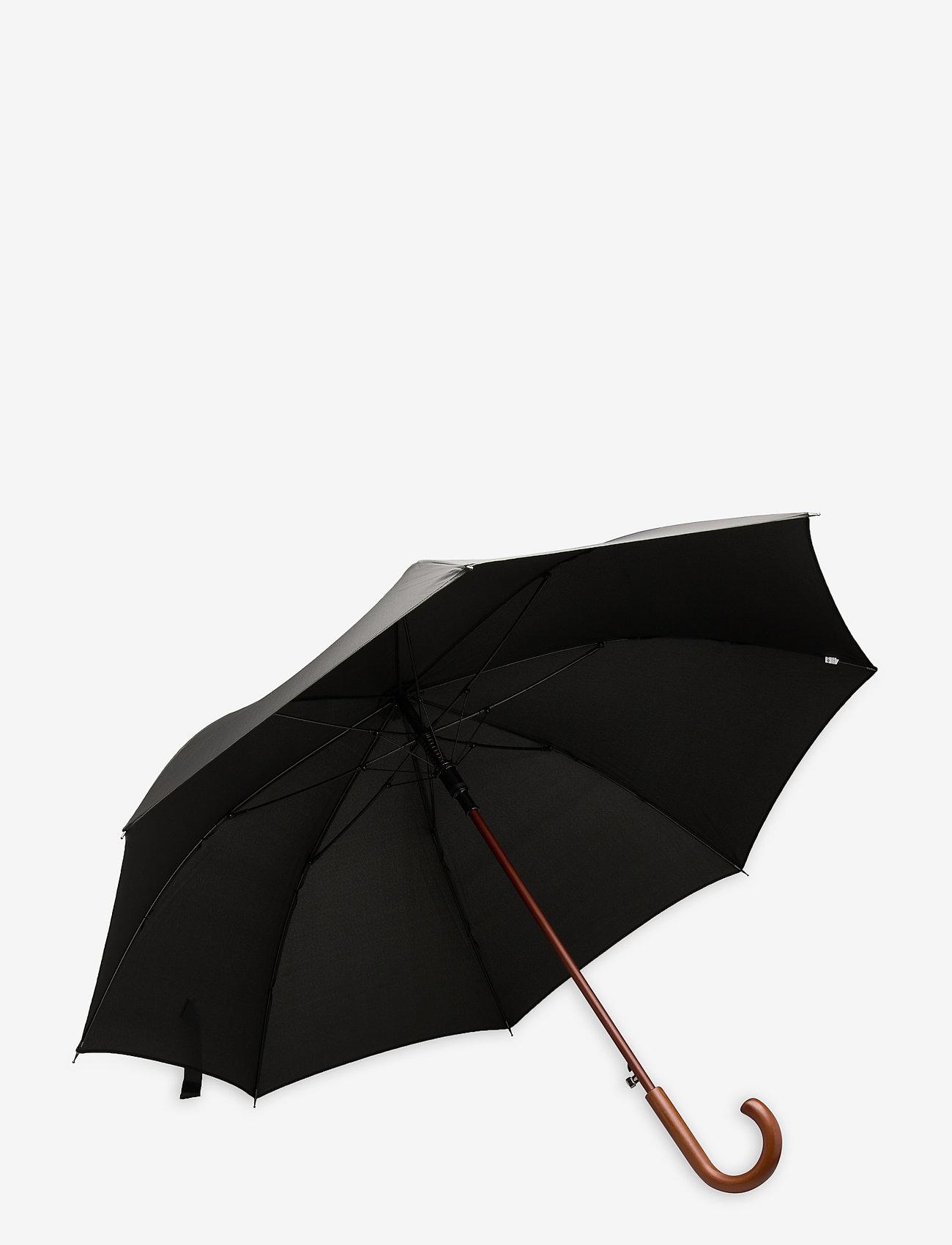 Samsonite - WOOD CLASSIC S-STICK MAN AUTO OPEN - paraplyer - black - 1