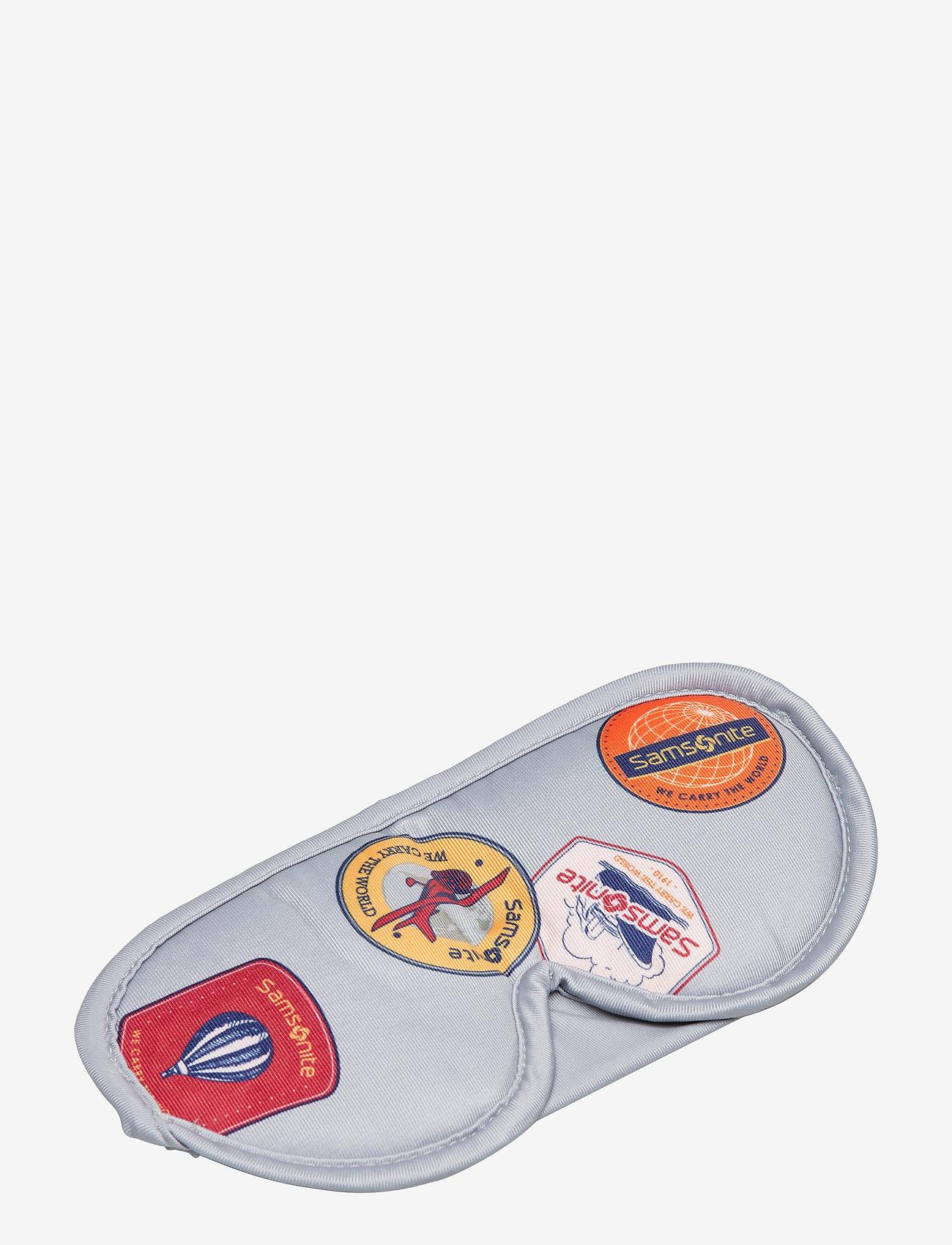 Samsonite - Comfort Travelling Eye Mask And Earplugs - resetillbehör - heritage patches - 0