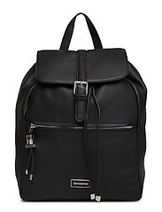 Karissa Biz Lth Backpack S - BLACK