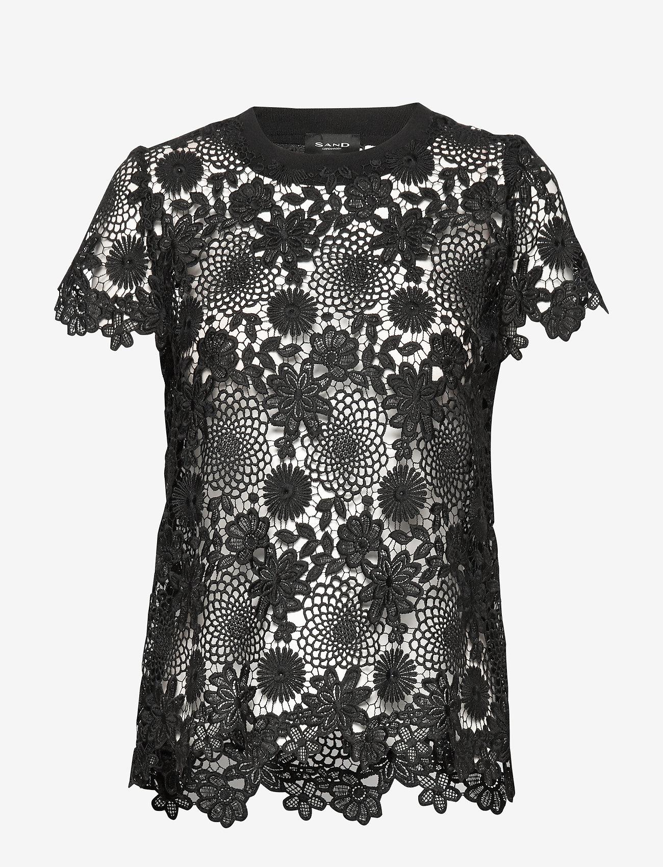 SAND - 3168 - Kaya - t-shirts - black - 0