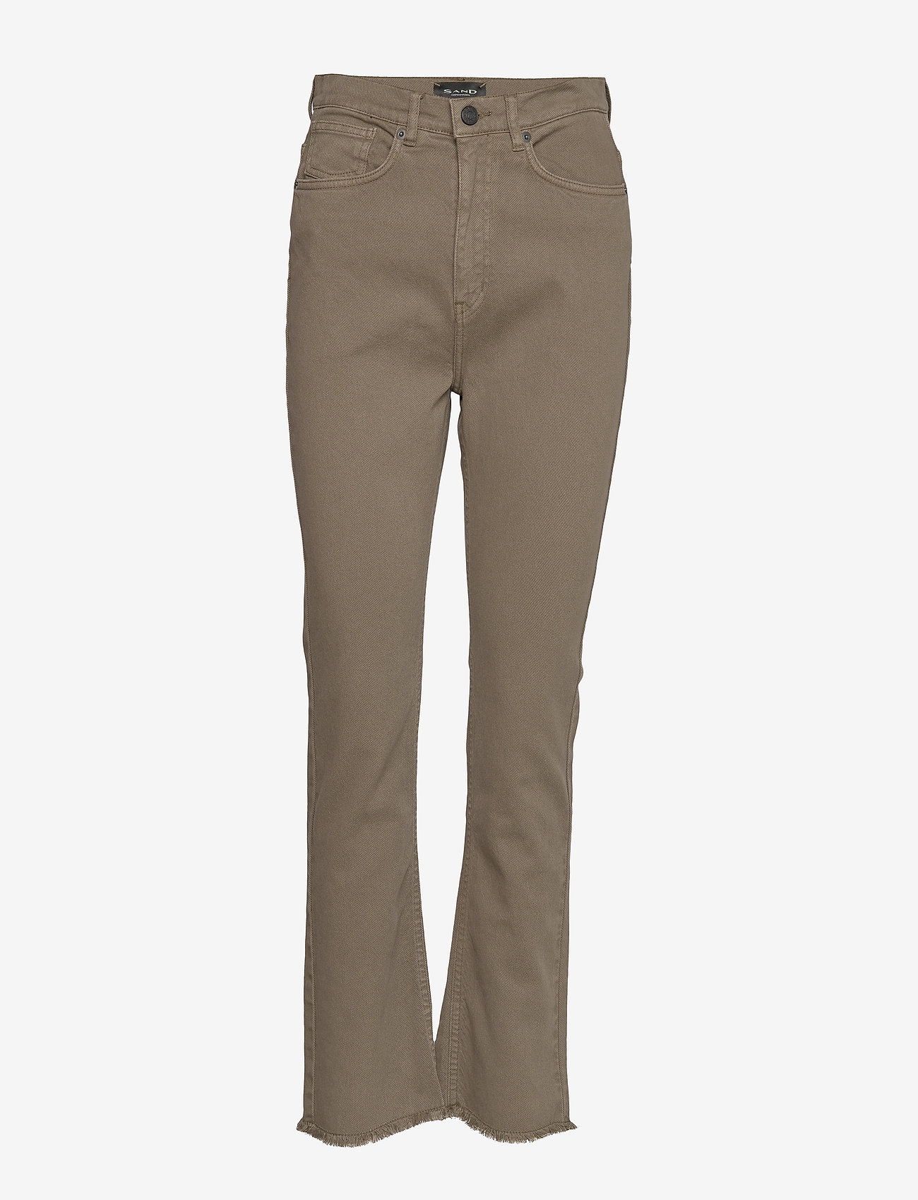 SAND - 0639 - Kathy Cropped - boot cut jeans - olive/khaki - 0