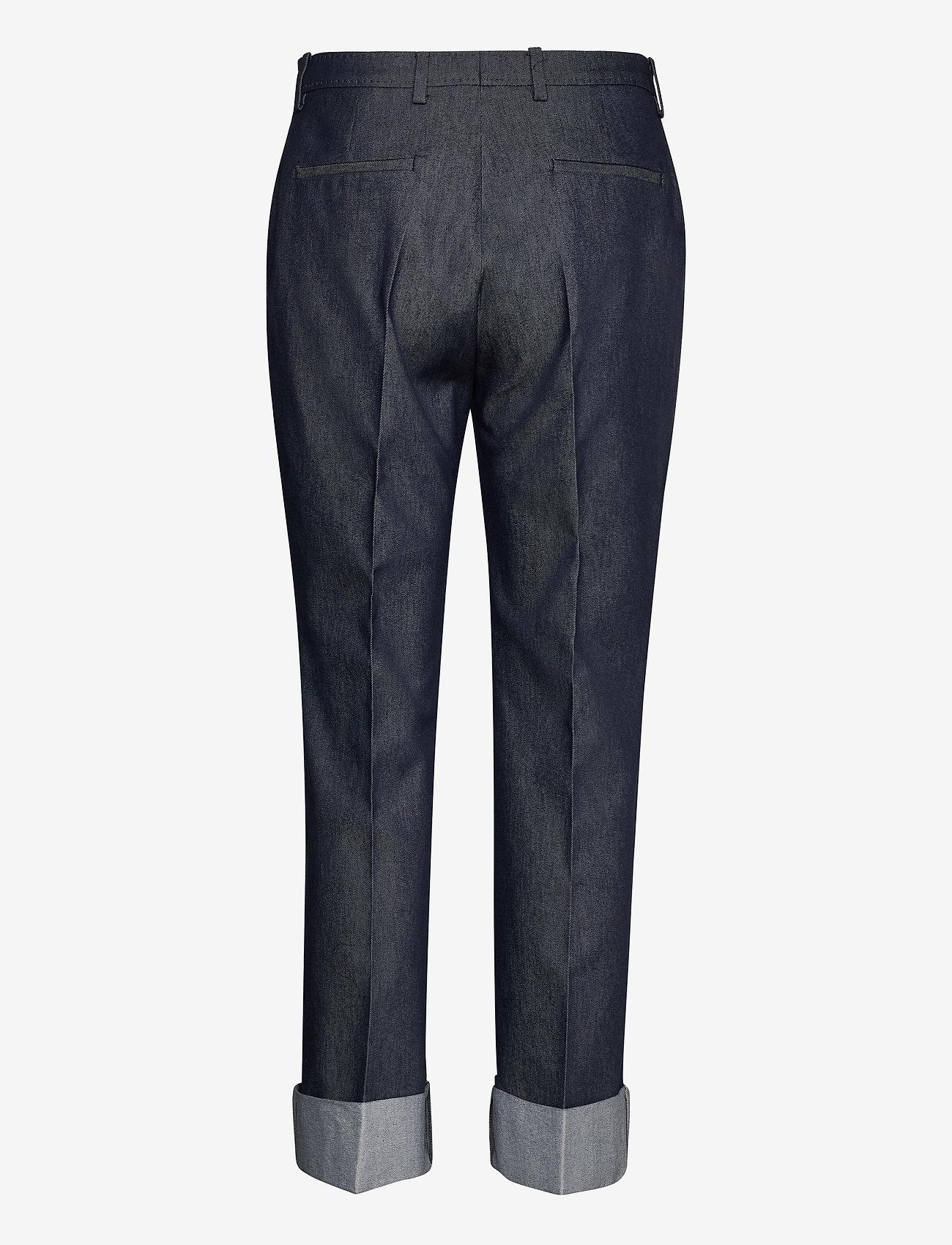 SAND 3395 - Dori A Turnup - Bukser MEDIUM BLUE - Dameklær Spesialtilbud