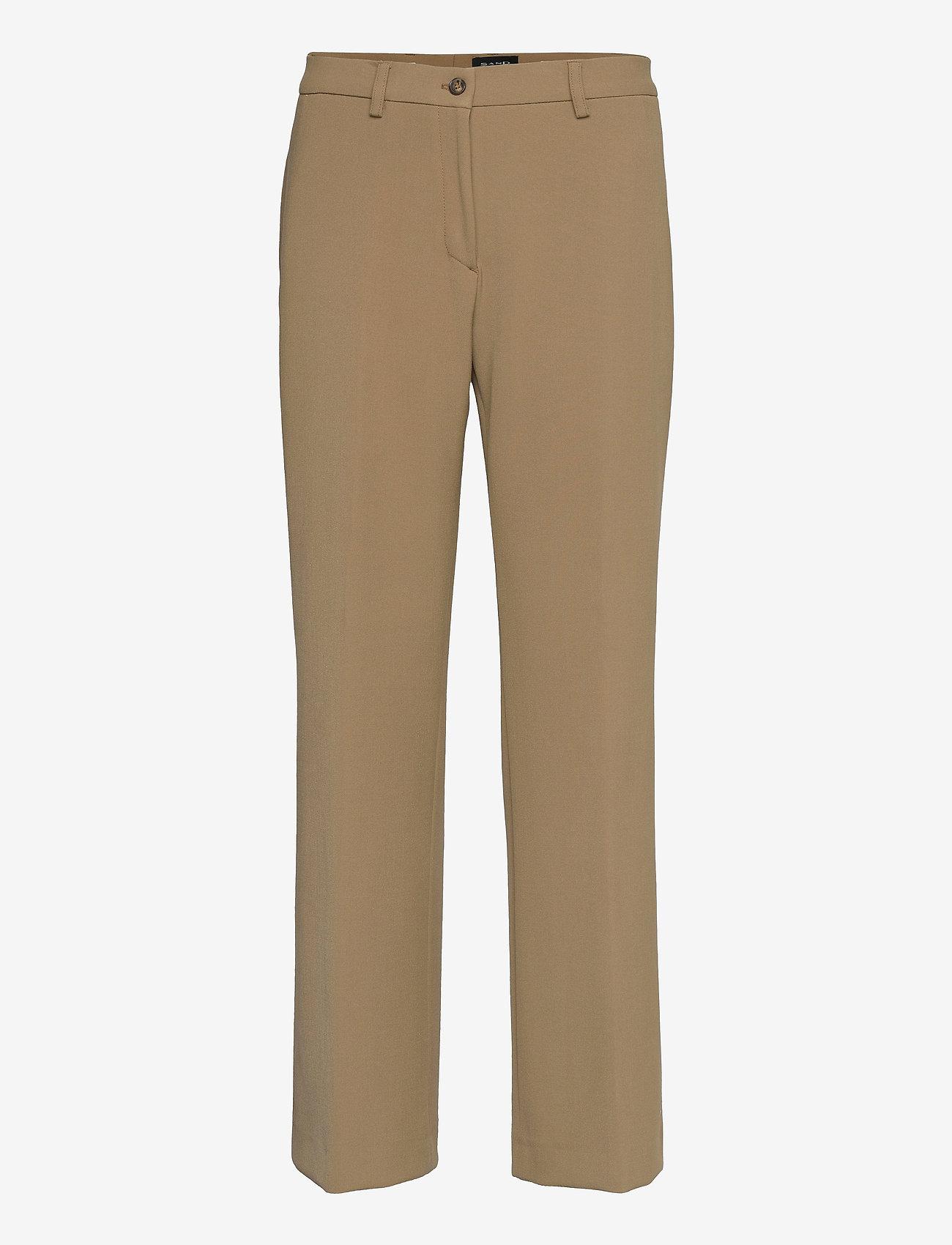 SAND - 3596 - Sasha Tailored - broeken med straight ben - light camel - 0