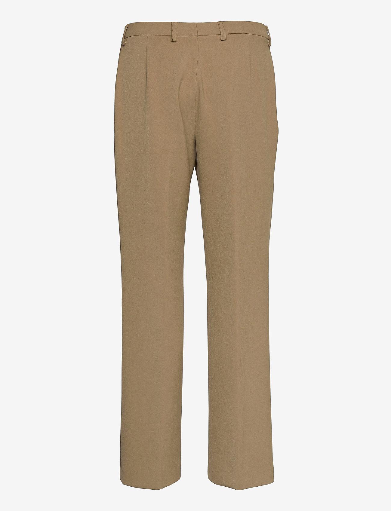 SAND - 3596 - Sasha Tailored - broeken med straight ben - light camel - 1