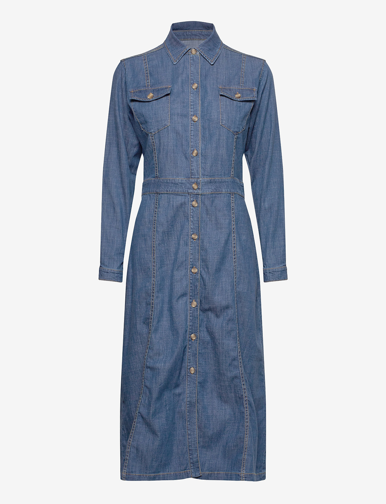 SAND - R/Denim - Mati - shirt dresses - blue - 0