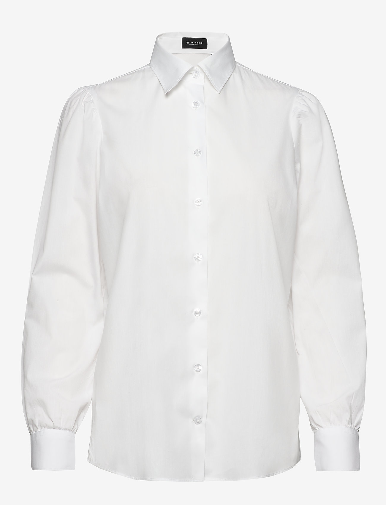 SAND - 8704 - Loreto - långärmade skjortor - optical white - 0