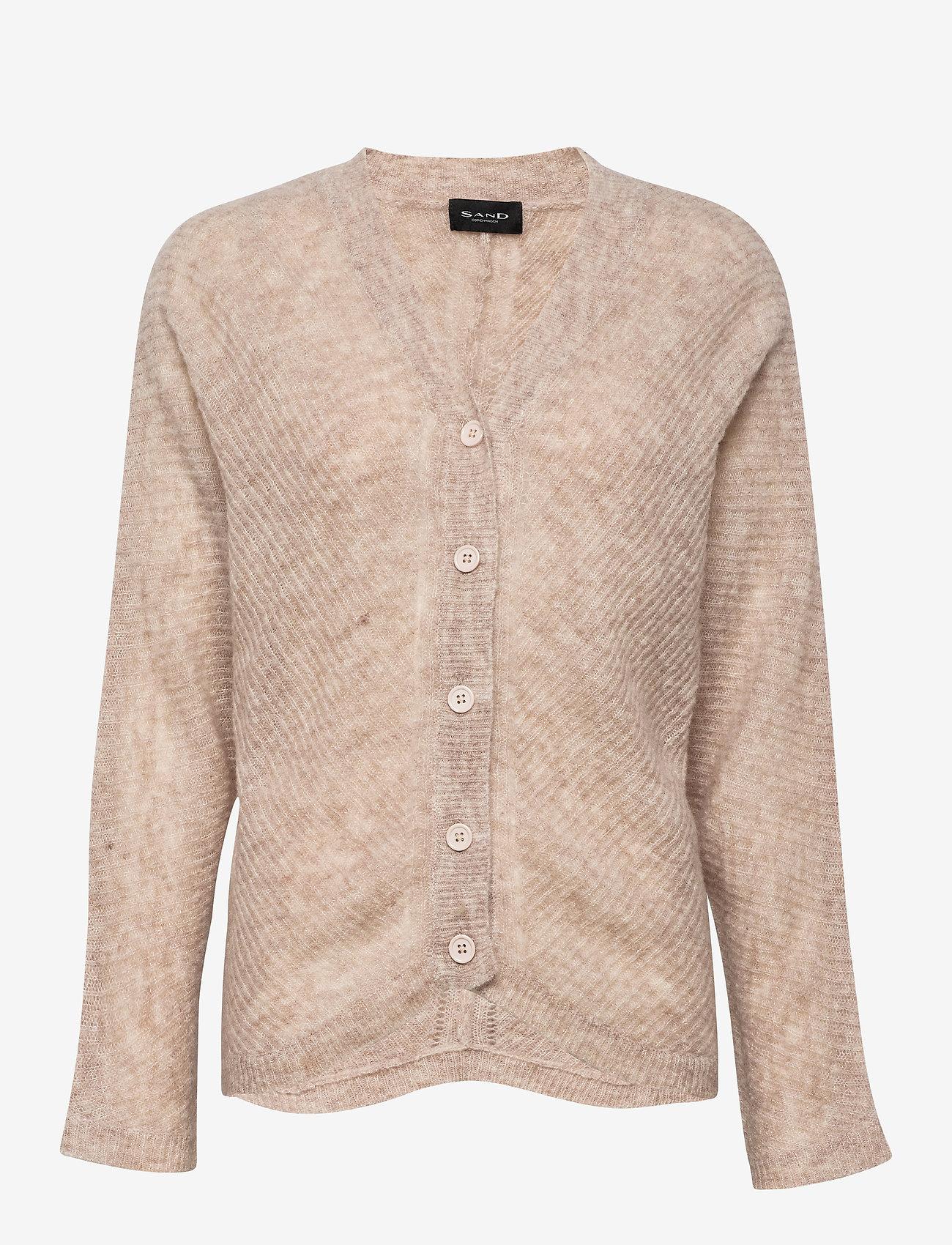 SAND - 5194 - Silje Cardigan - cardigans - light beige - 0