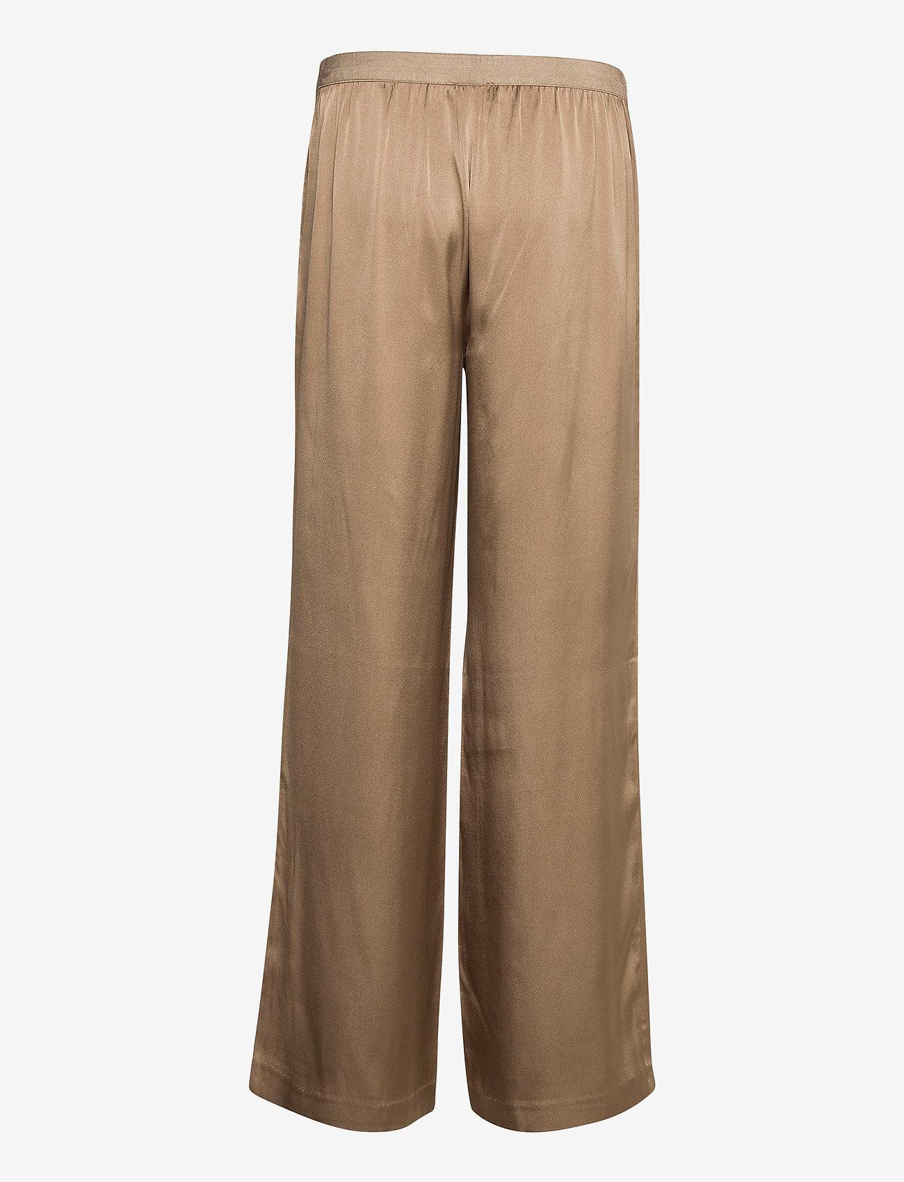 SAND - Double Silk - Sasha Flex Pleated - bukser med brede ben - light camel - 1
