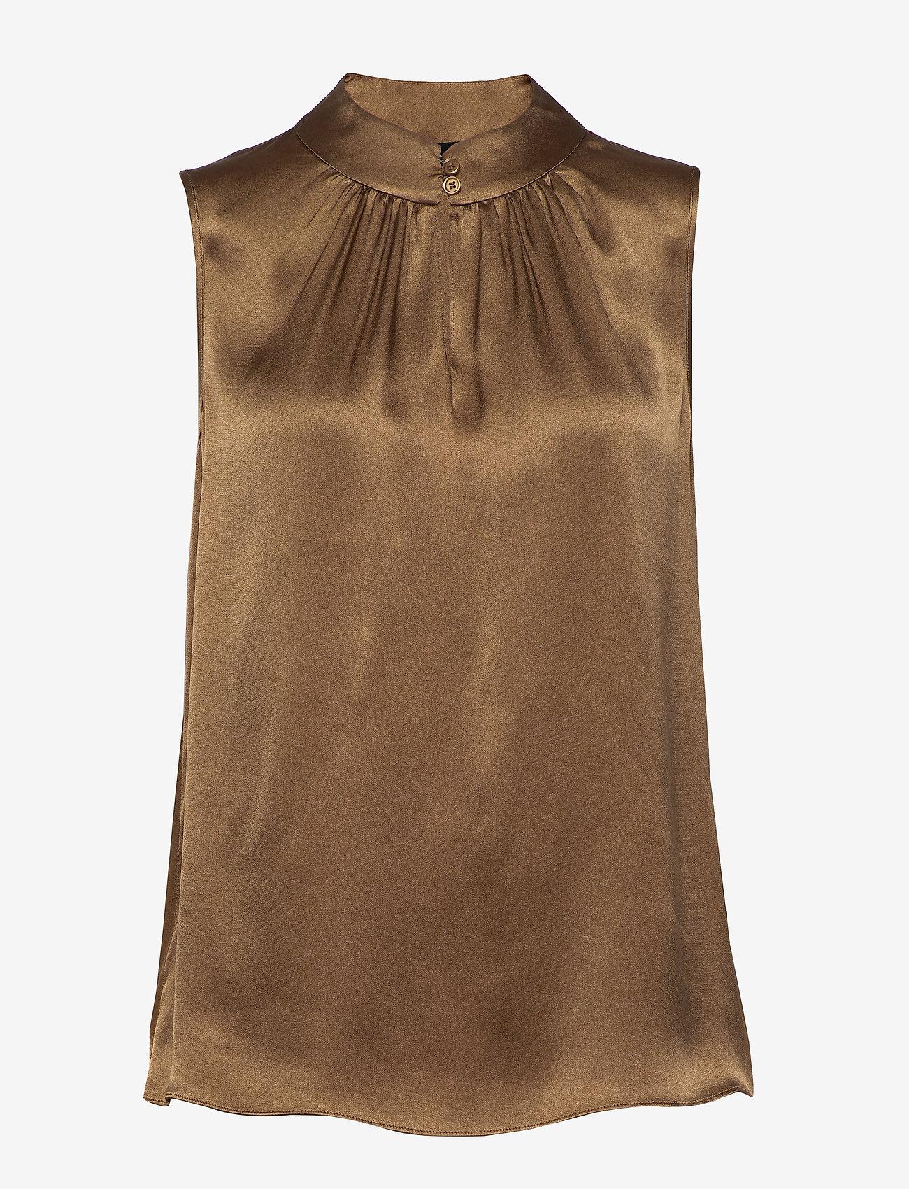 SAND - Double Silk - Prosi Top - blouses zonder mouwen - light camel - 0