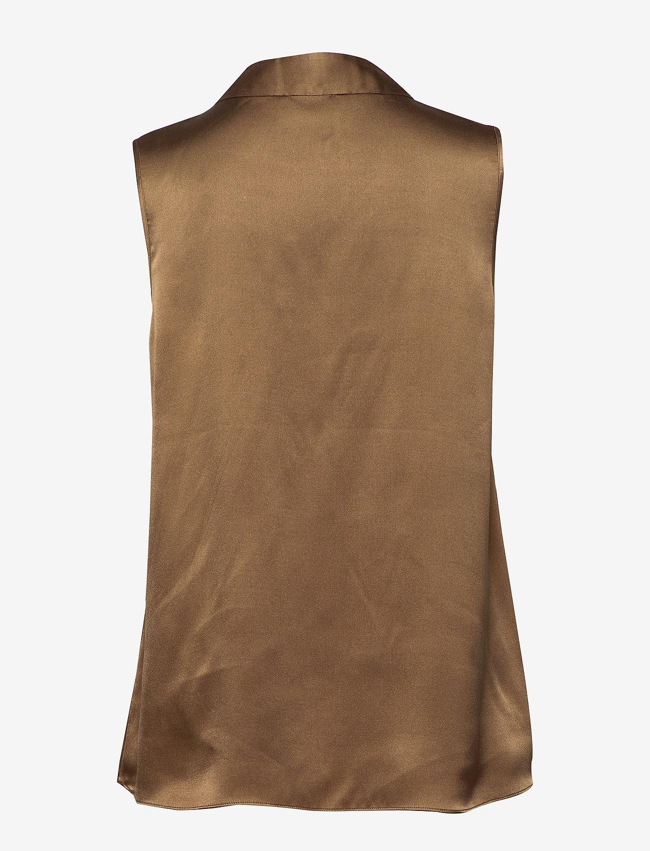 SAND - Double Silk - Prosi Top - blouses zonder mouwen - light camel - 1
