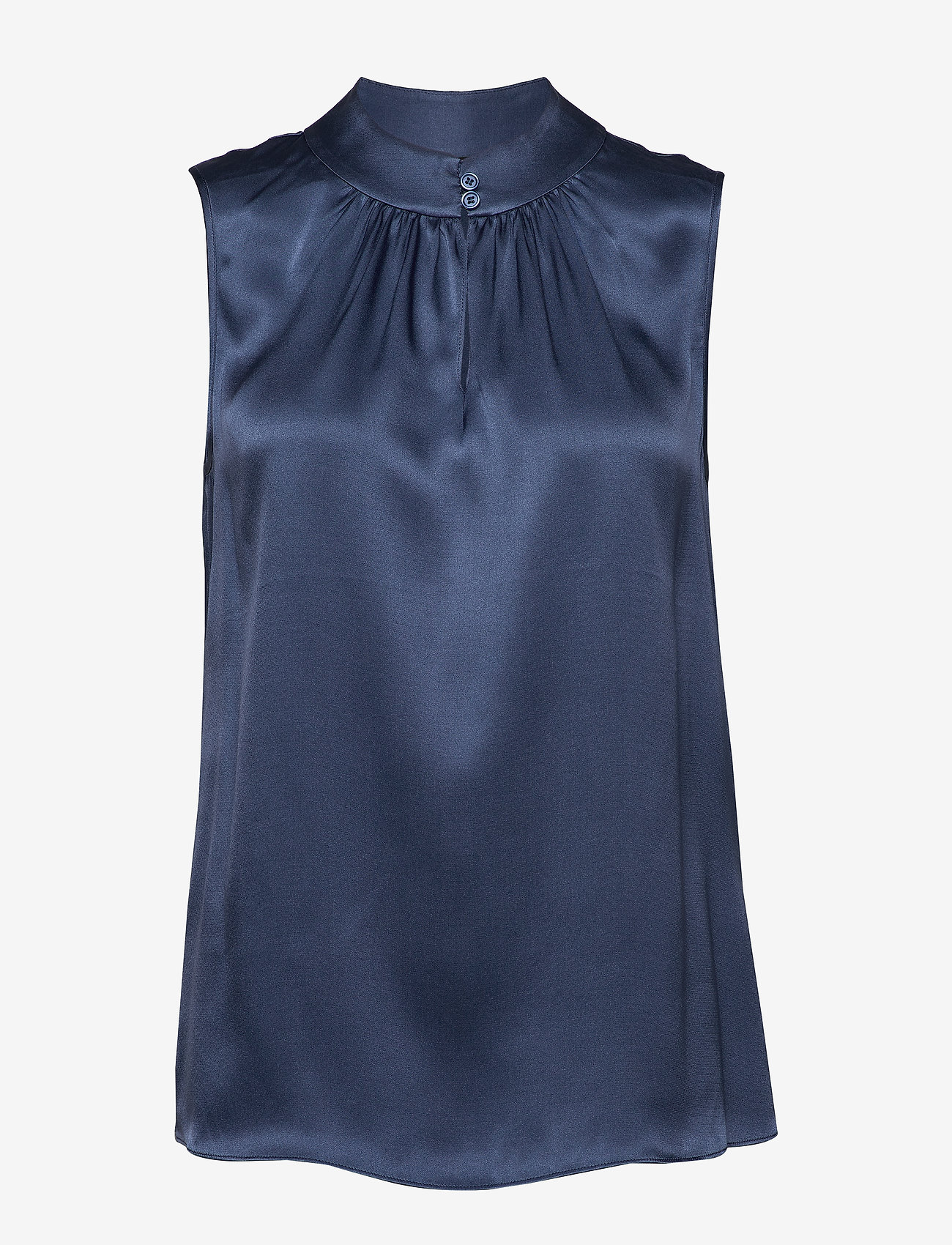 SAND - Double Silk - Prosi Top - blouses zonder mouwen - medium blue - 0