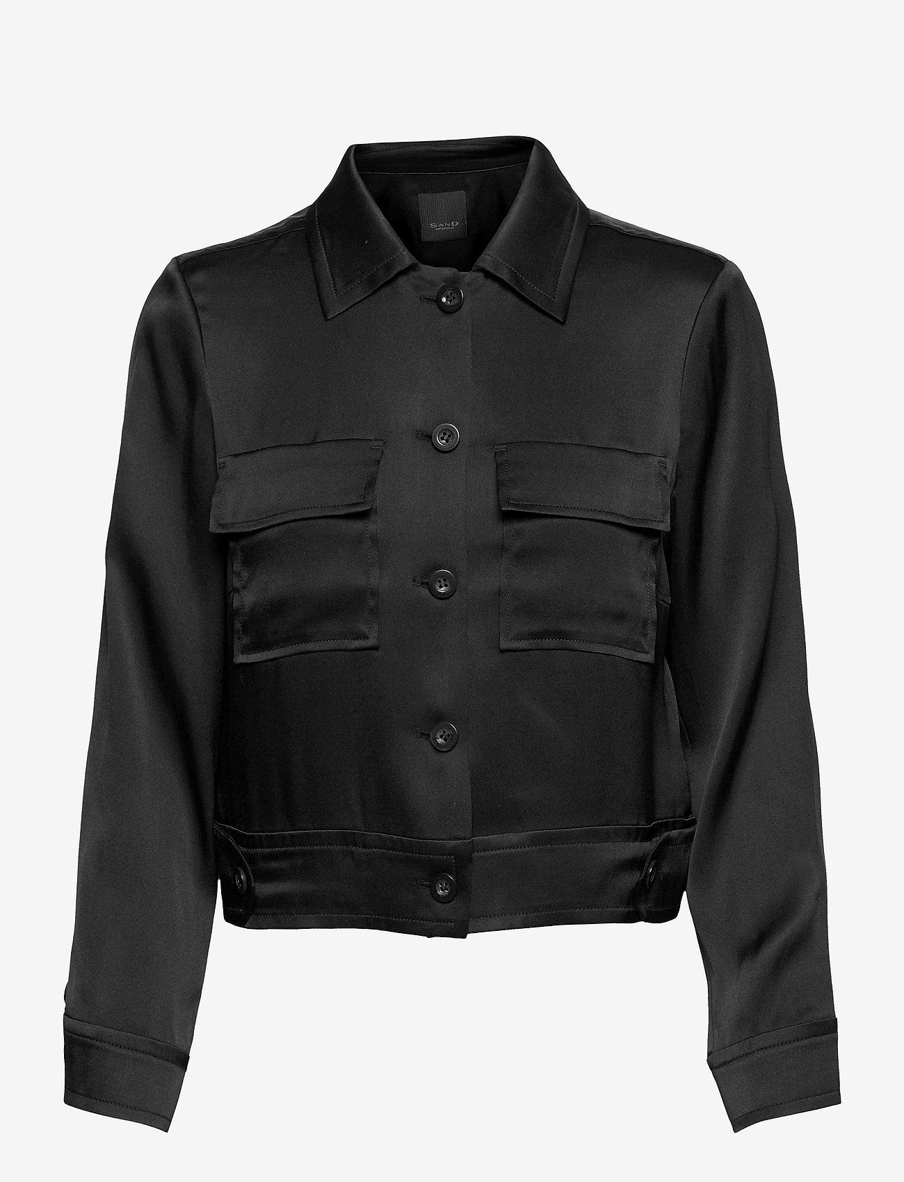 SAND - Double Silk - Kaela - lichte jassen - black - 0
