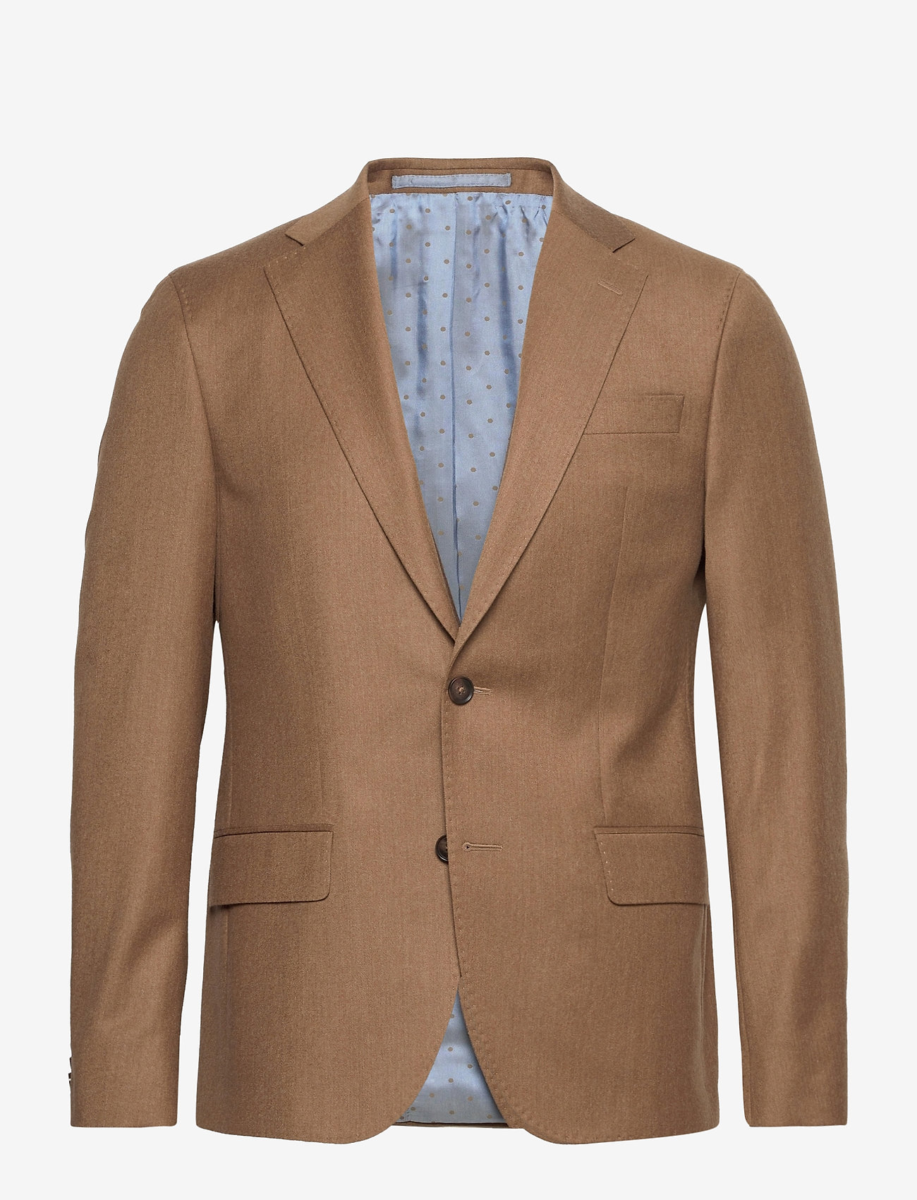 SAND - Cashmere Flannel - Star Napoli Norm - single breasted blazers - light camel - 0