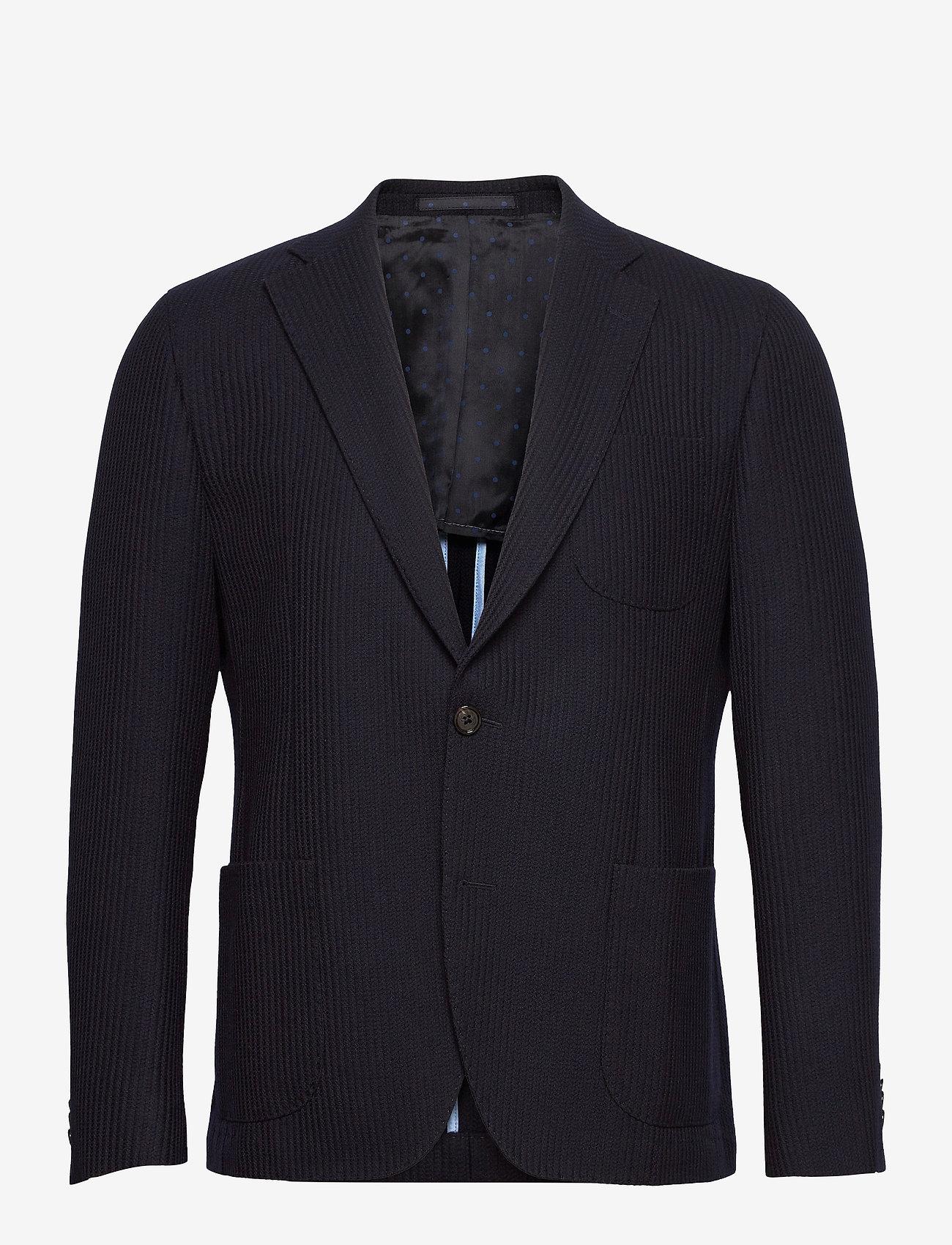 SAND - 6274 - Jones Napoli 1/2 PP Normal - single breasted blazers - medium blue - 0