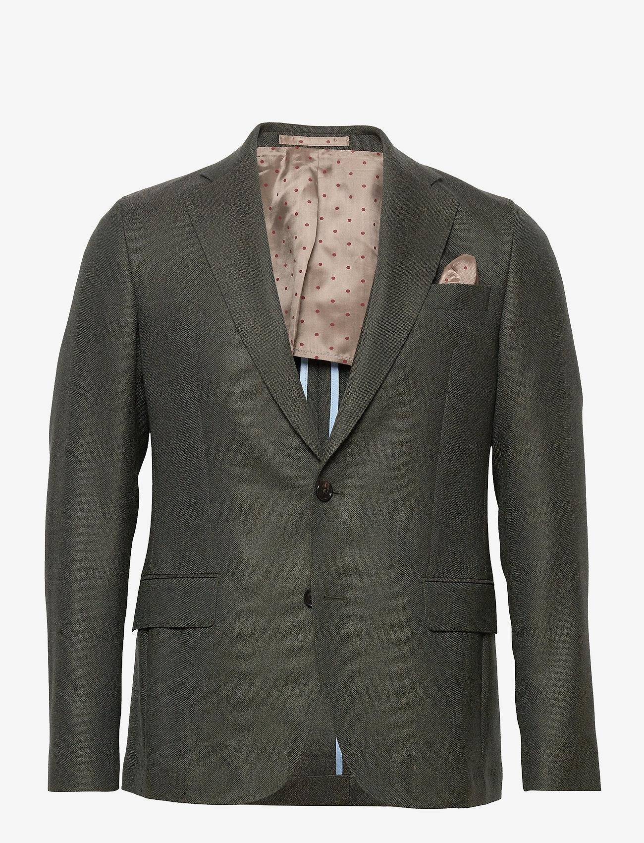 SAND - 6135 - Jones Napoli 1/2 Normal - single breasted blazers - green - 0