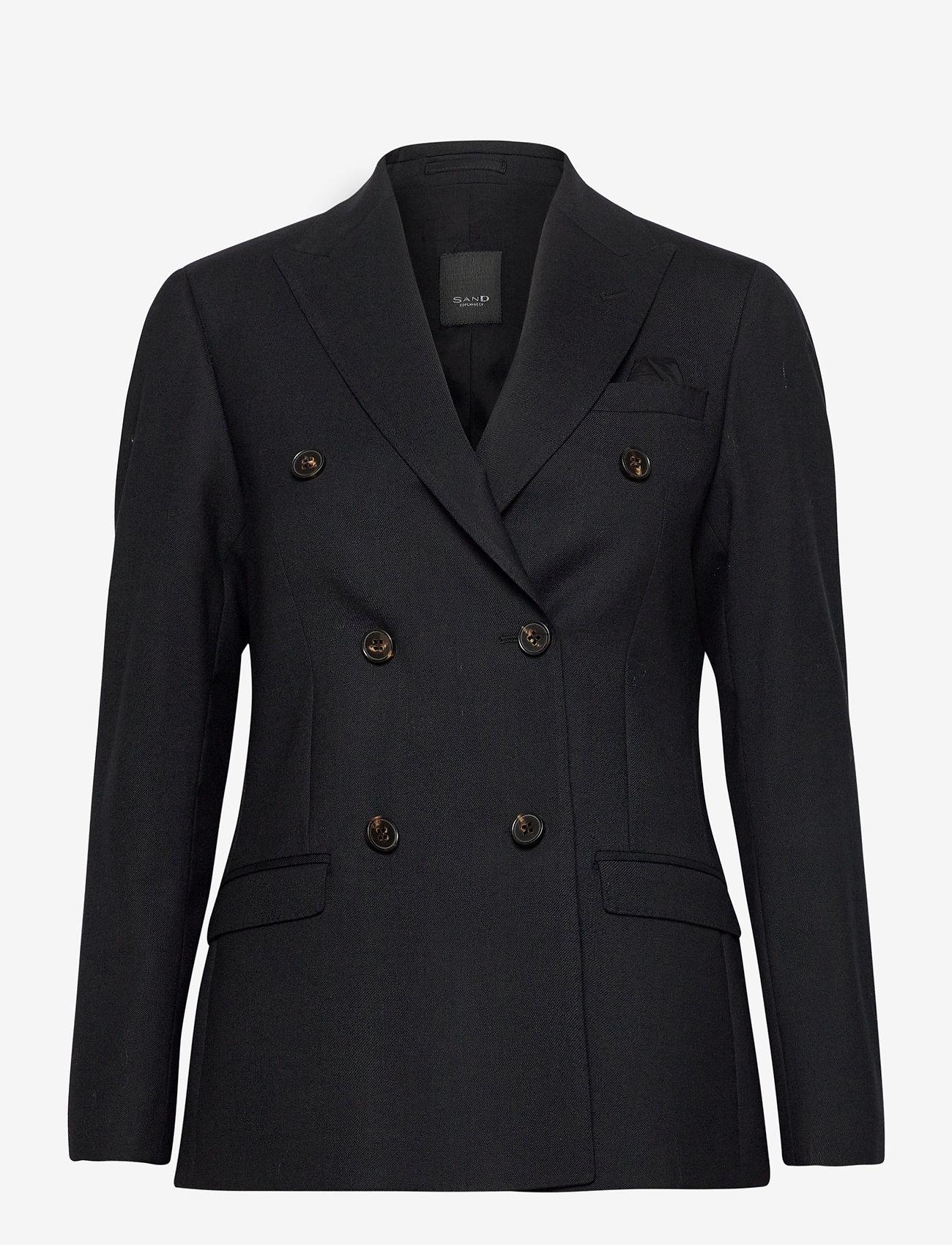 SAND - 2558 - Rani DB - getailleerde blazers - black - 0