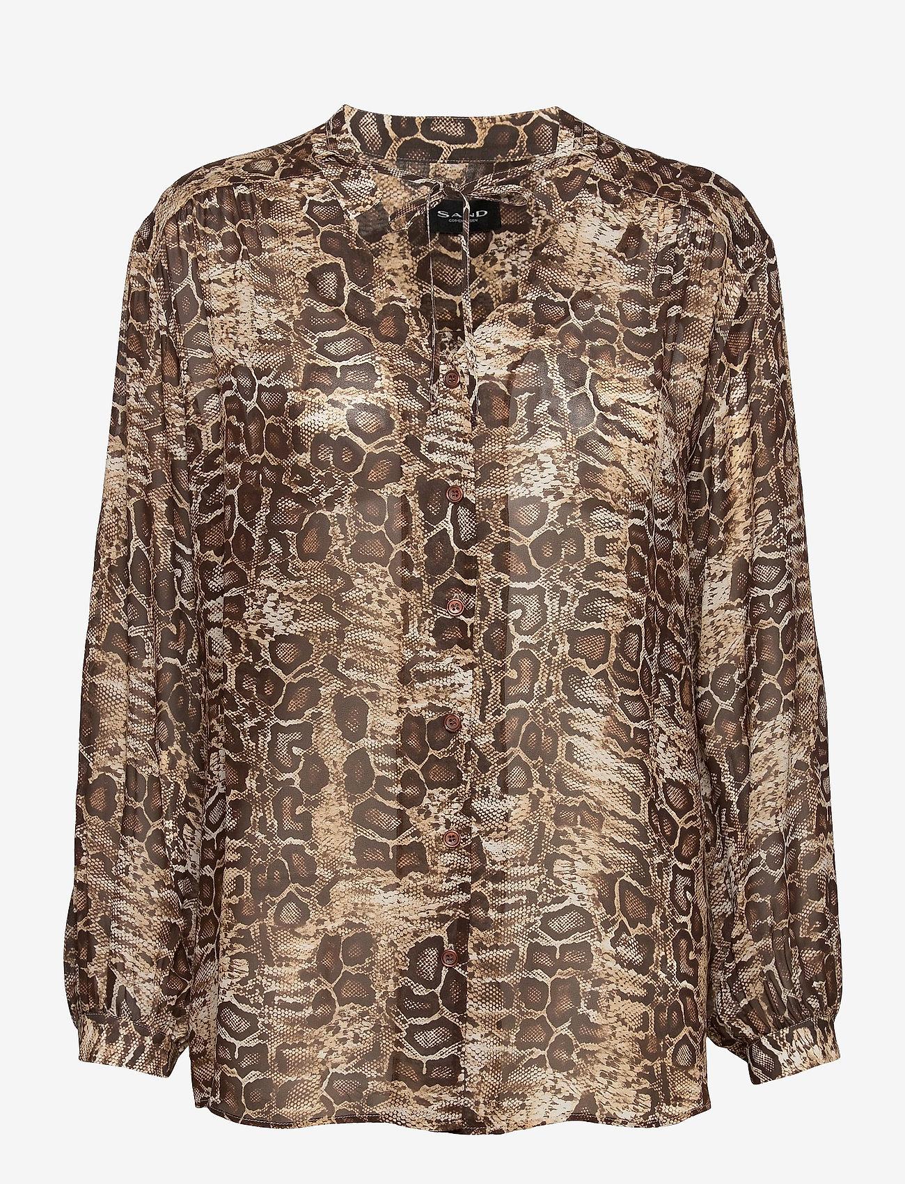 SAND - 3411 - Cecil - blouses met lange mouwen - light camel - 0