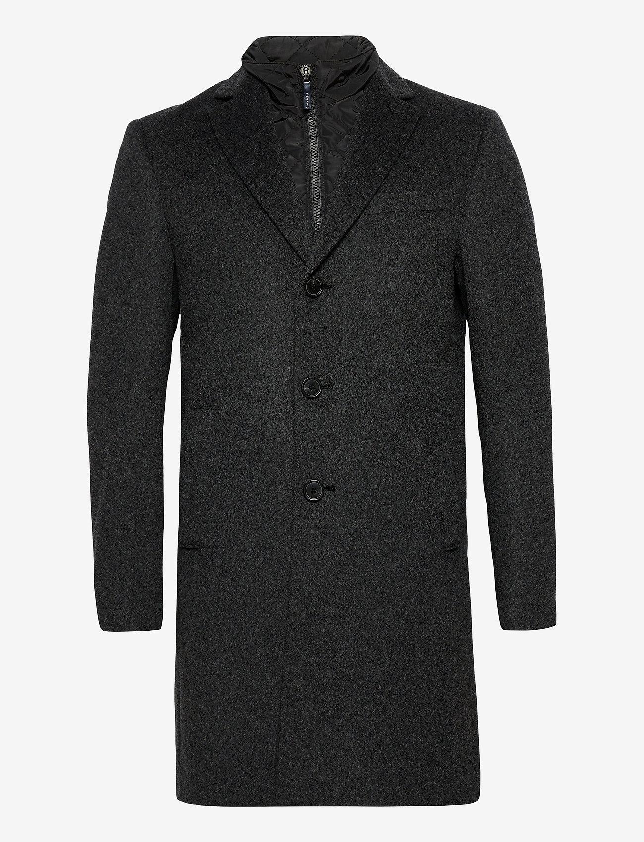 SAND - Cashmere Coat - Sultan Tech - ullrockar - charcoal - 1