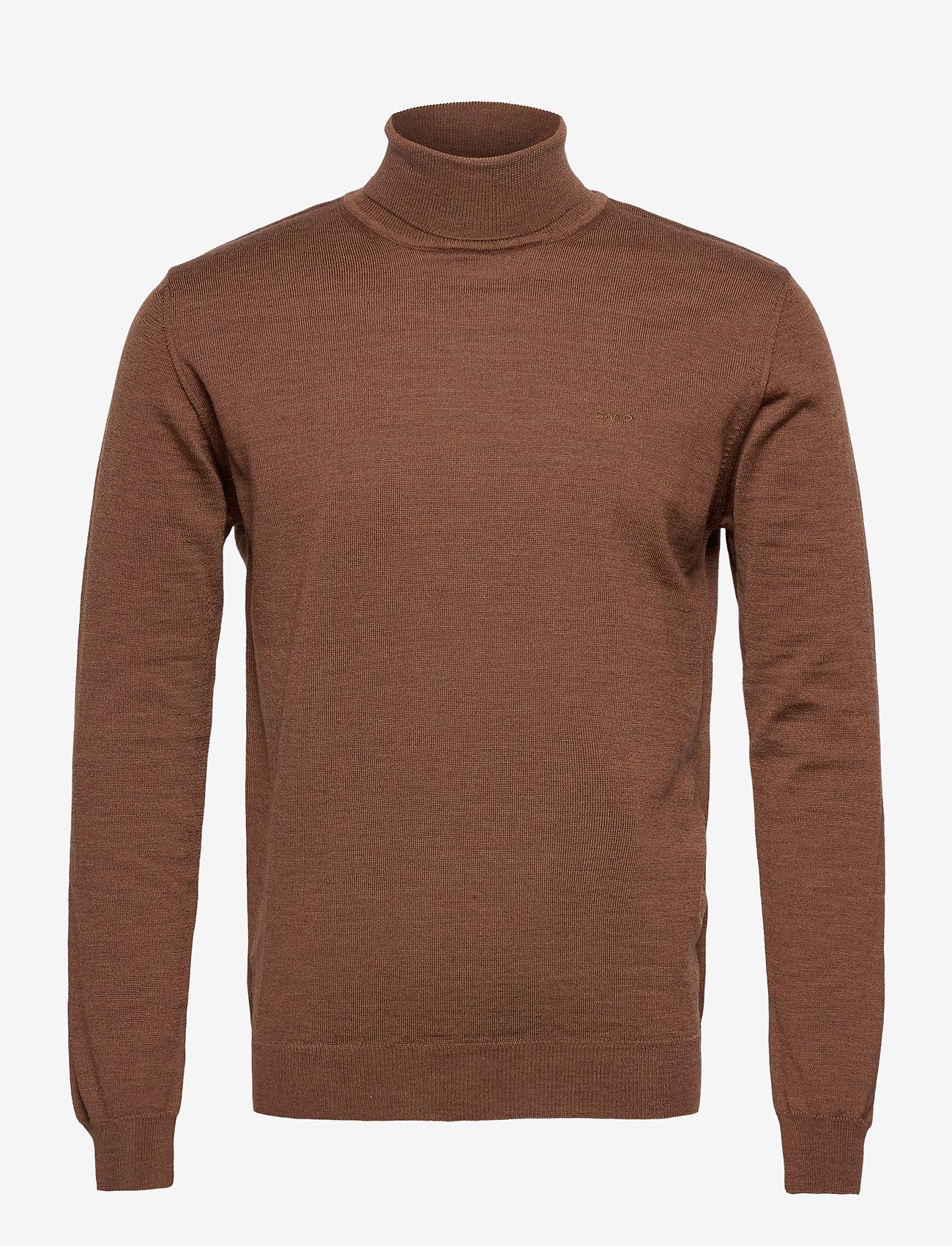 SAND - Merino Embroidery - Id - perusneuleet - brown - 0