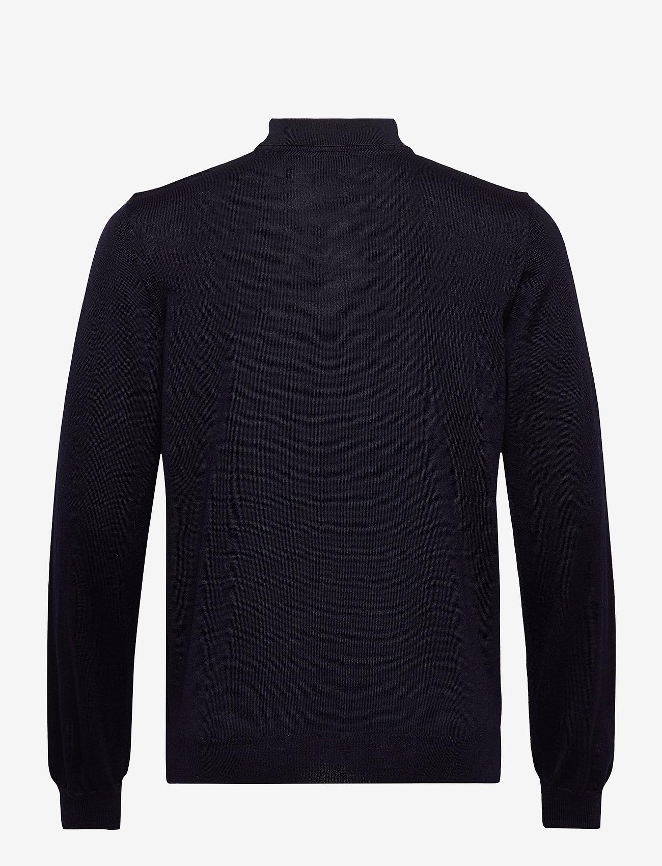 SAND - Merino Embroidery - IPolo - långärmade pikéer - dark blue/navy - 1