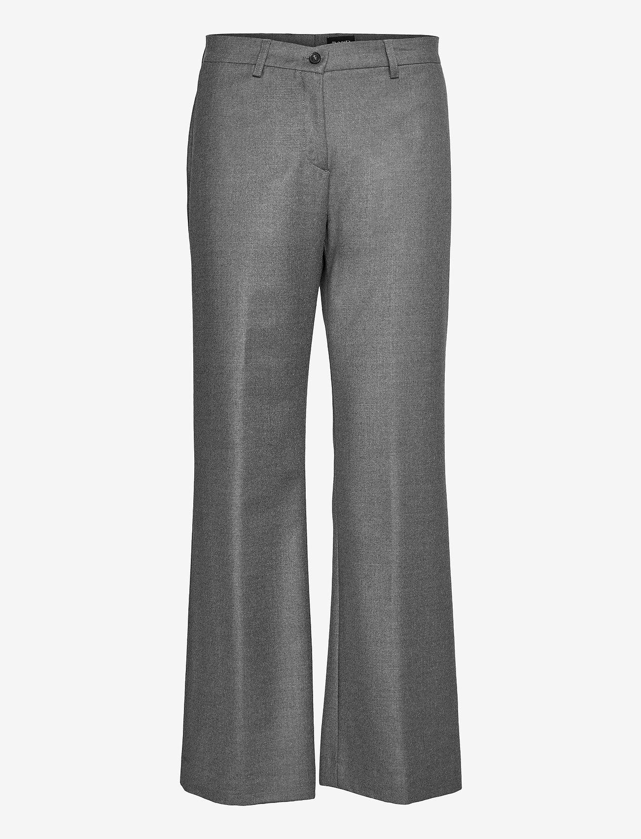 SAND - 1698 - Sasha Tailored - uitlopende broeken - grey - 0