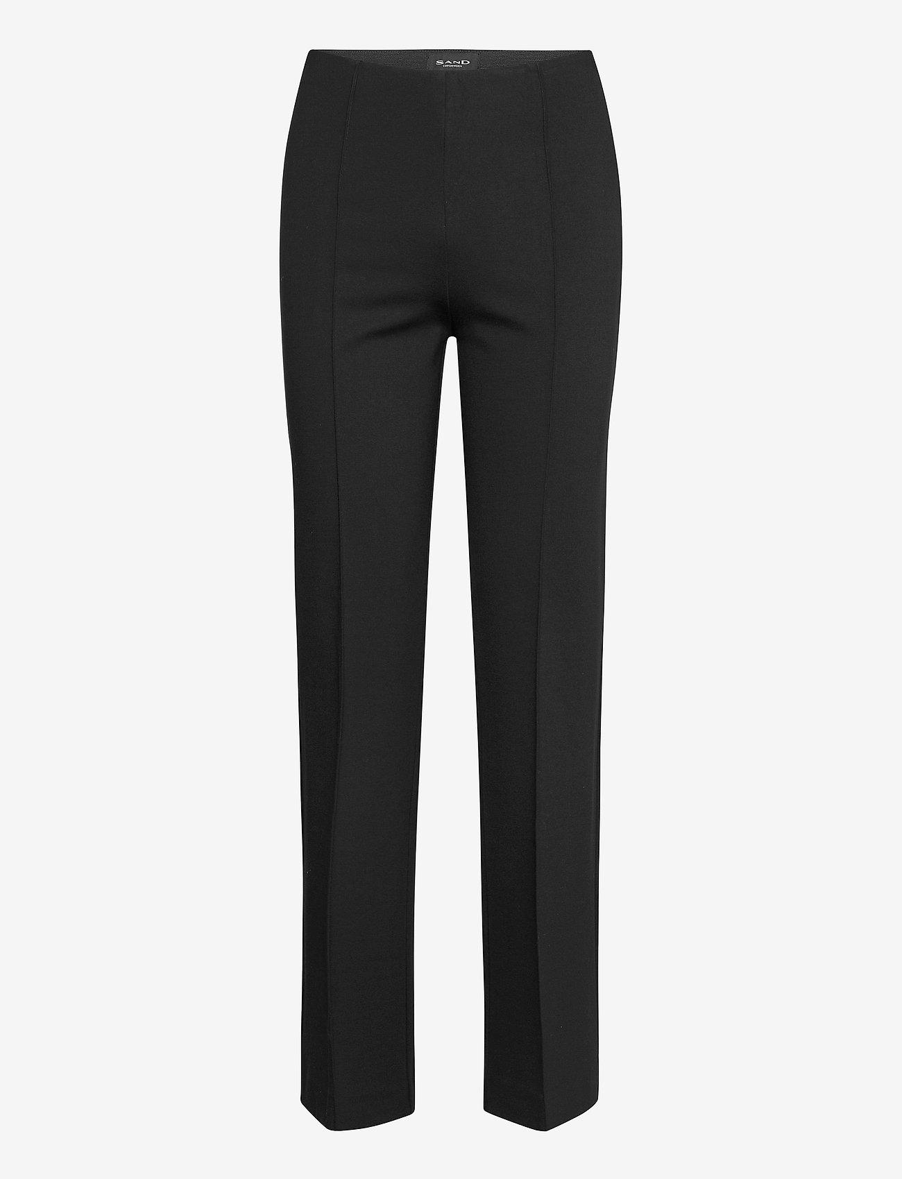SAND - 2548 - Malhia Wide - broeken med straight ben - black - 0