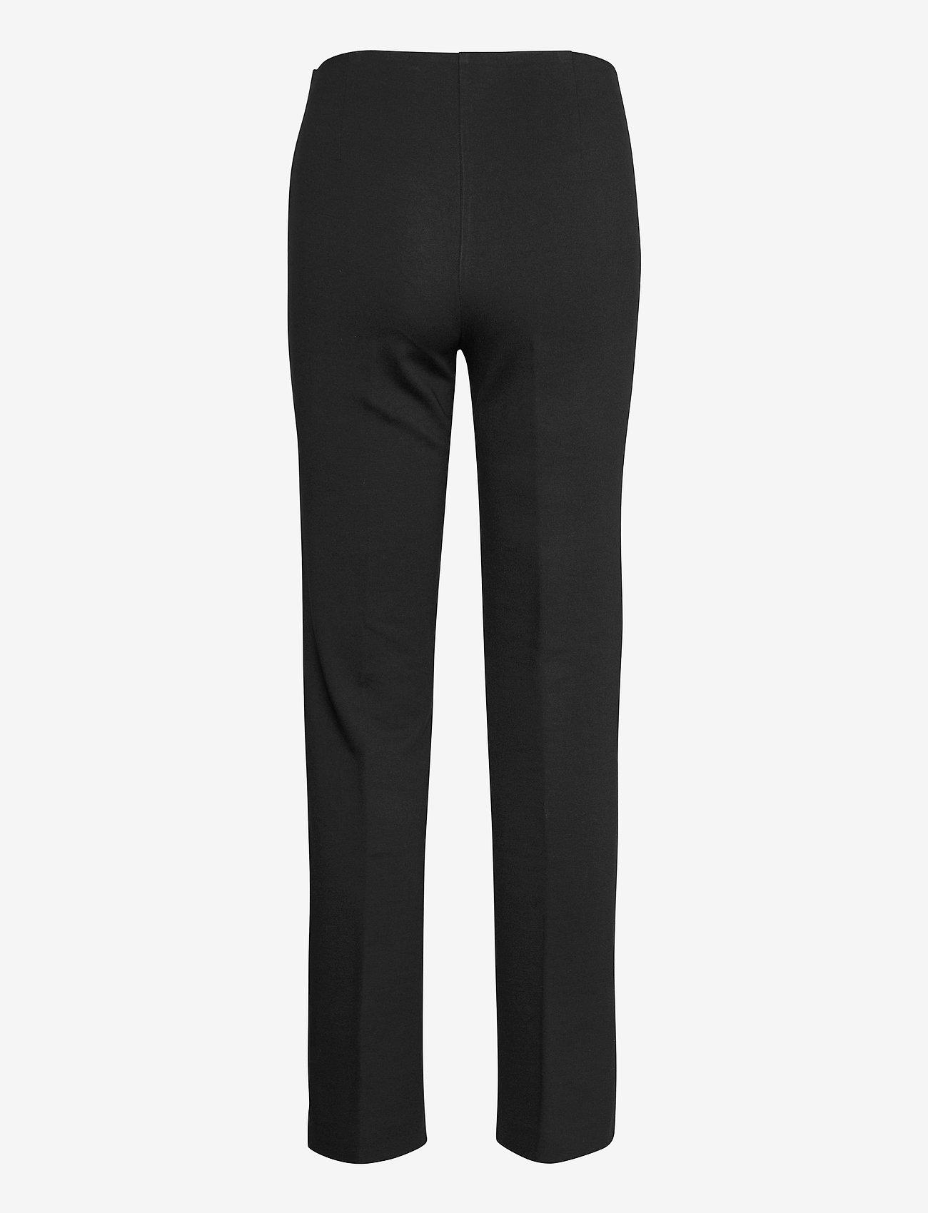 SAND - 2548 - Malhia Wide - broeken med straight ben - black - 1