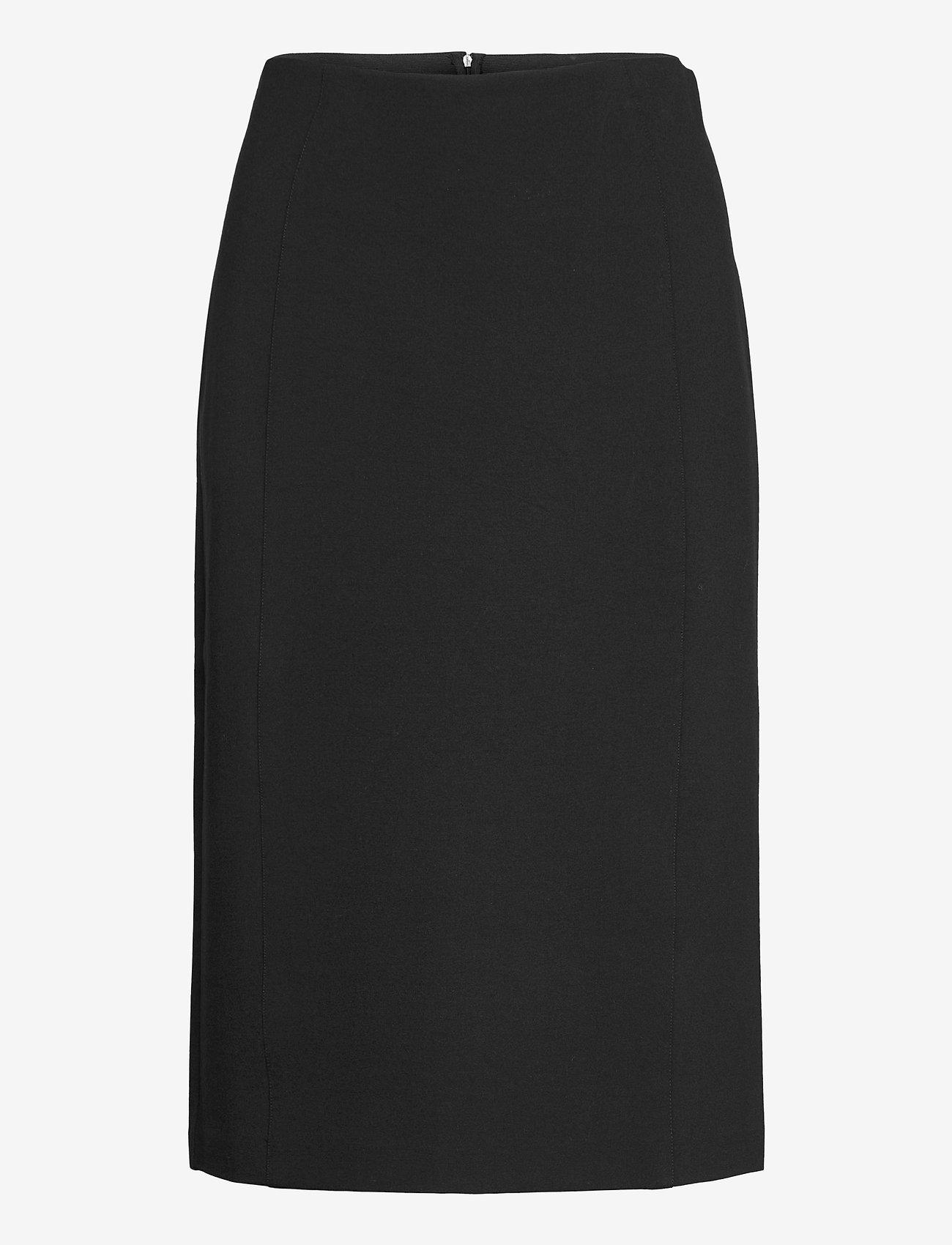 SAND - 2548 - Malhia Skirt - midi kjolar - black - 0