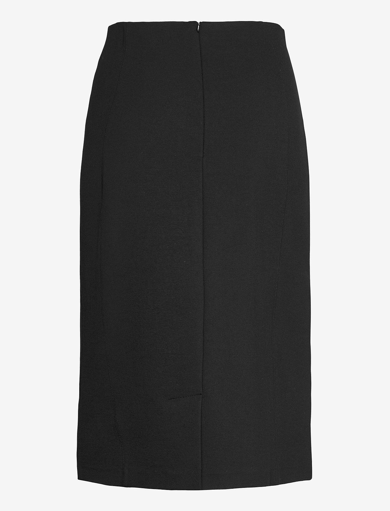 SAND - 2548 - Malhia Skirt - midi kjolar - black - 1