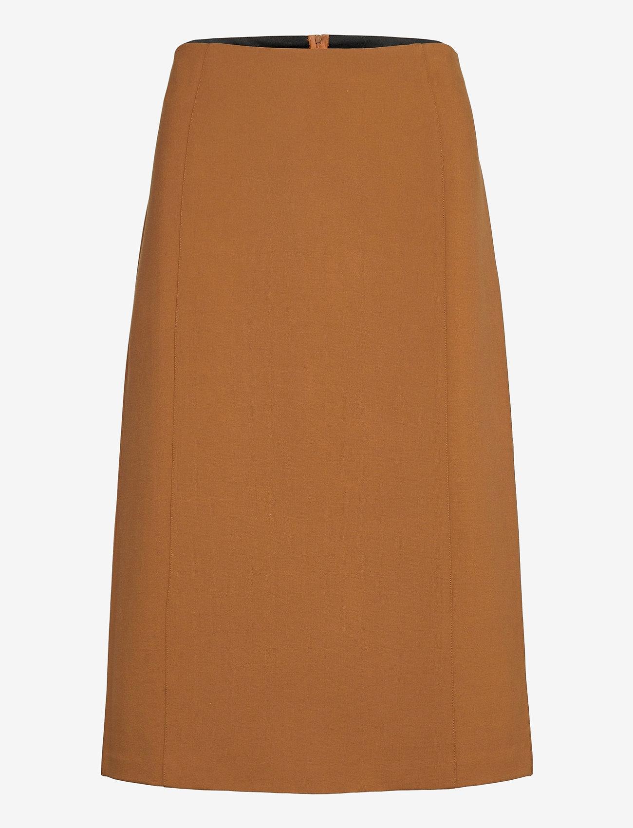 SAND - 2548 - Malhia Skirt - midi kjolar - light camel - 0