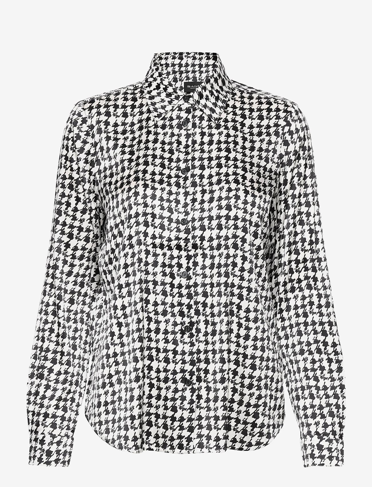 SAND - 3174 Satin - Latia - long sleeved blouses - pattern - 0