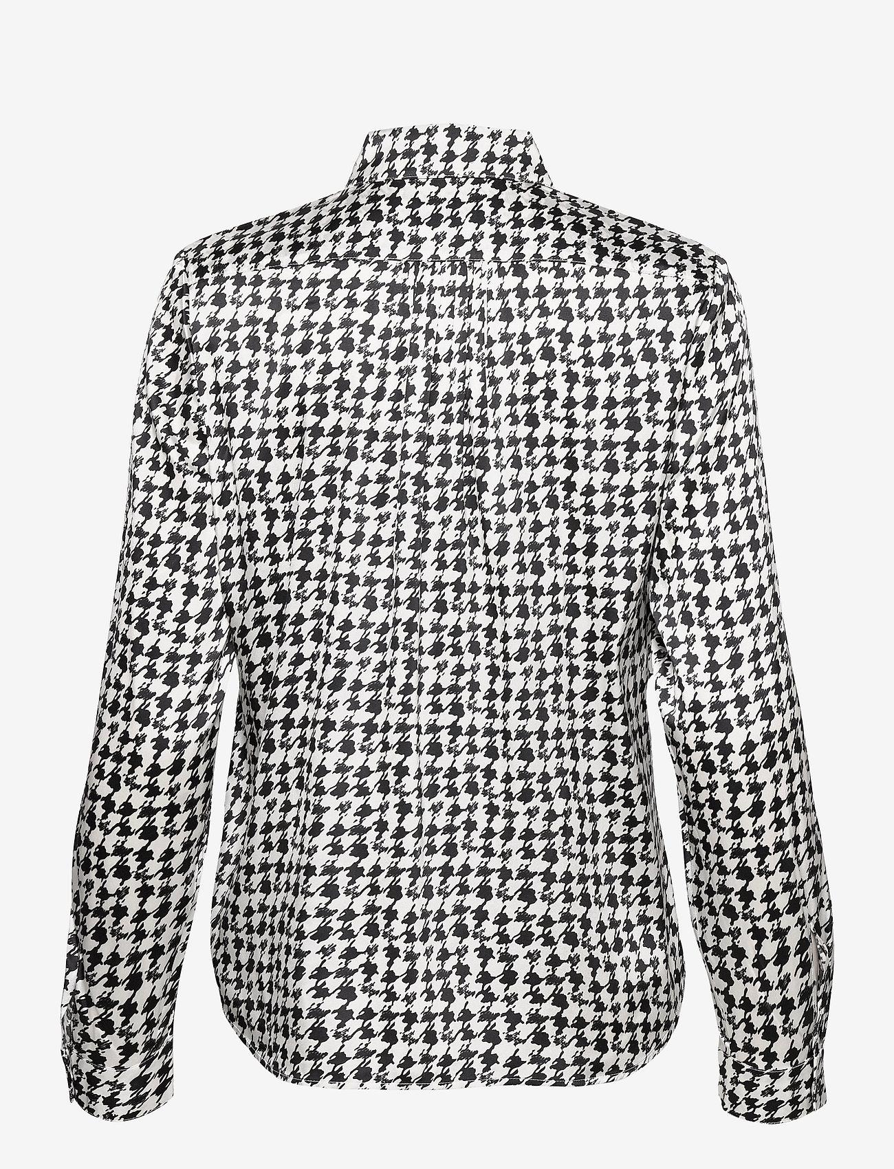 SAND - 3174 Satin - Latia - long sleeved blouses - pattern - 1