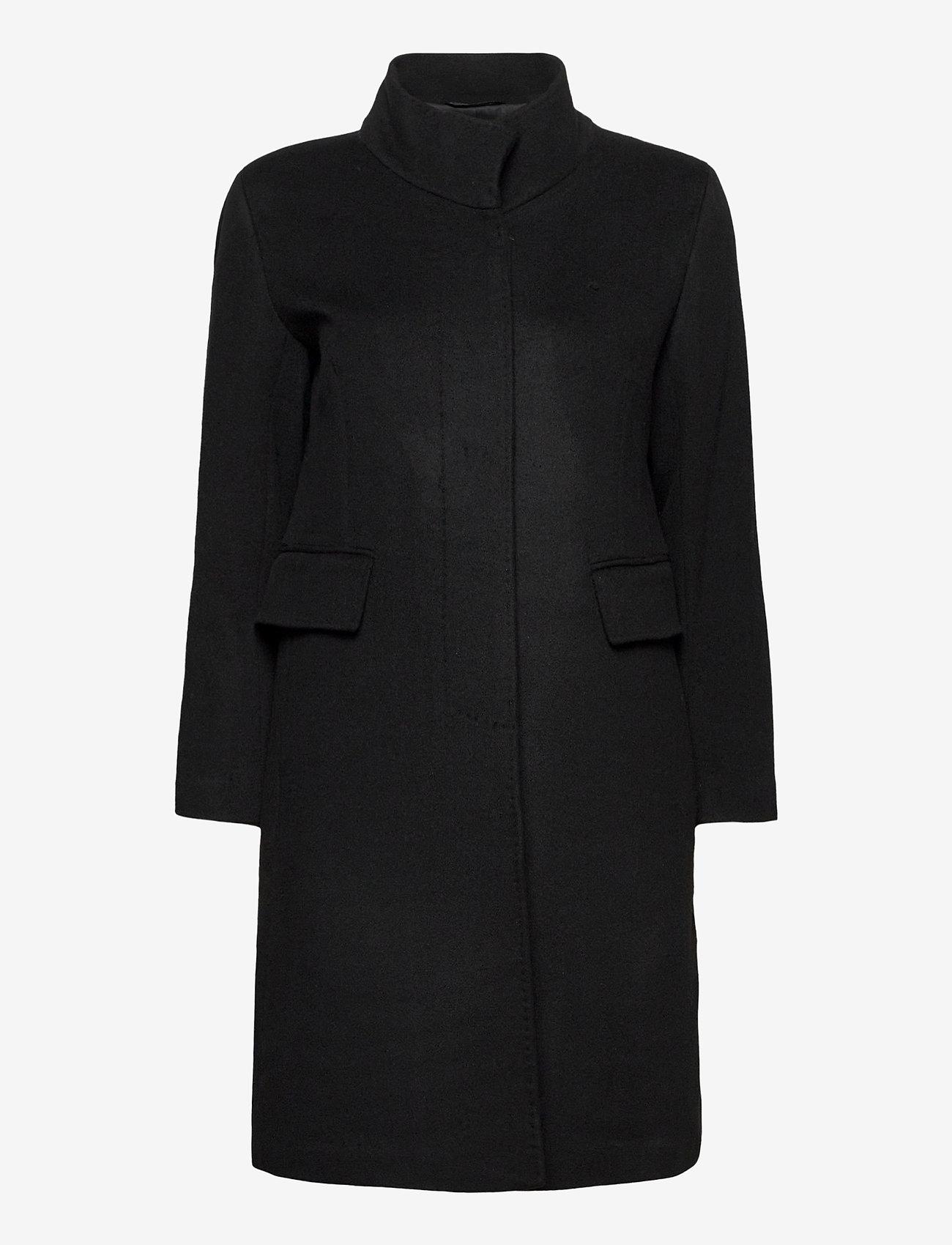 SAND - Cashmere Coat W - Parker 3 - ullkappor - black - 1