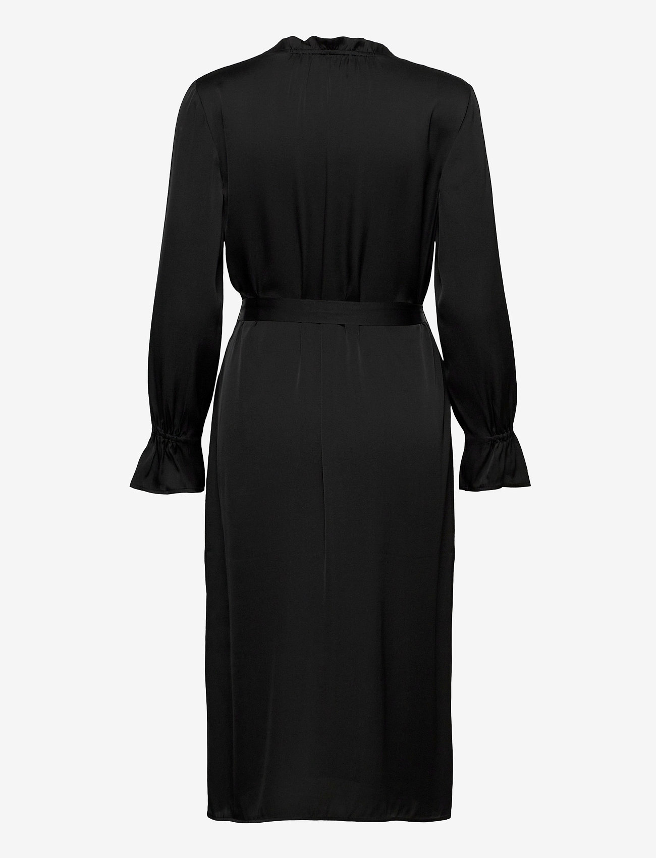 SAND - Satin Stretch - Raya FS Dress - robes midi - black - 1