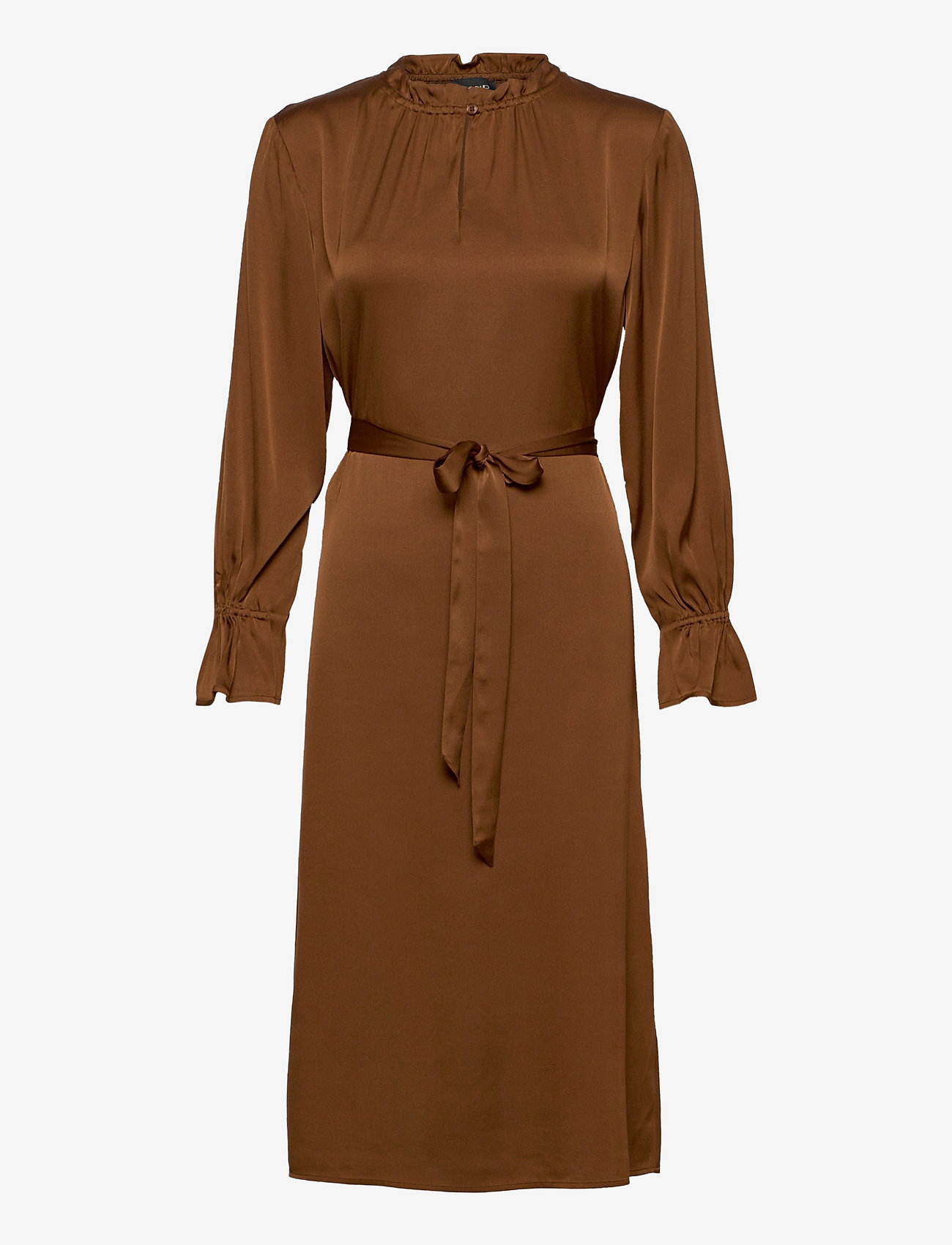 SAND - Satin Stretch - Raya FS Dress - robes midi - copper - 0