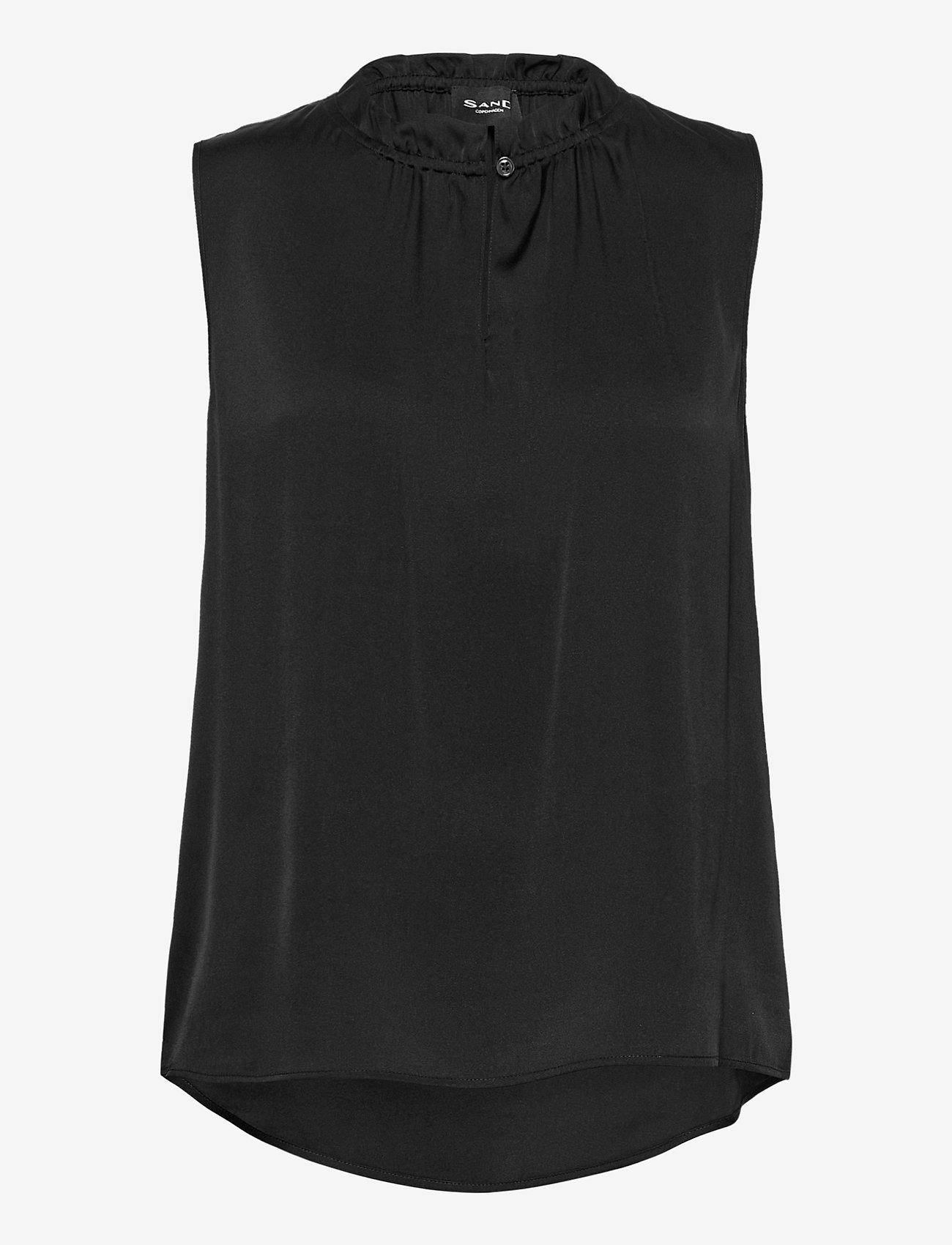 SAND - Satin Stretch - Raya F - blouses sans manches - black - 0