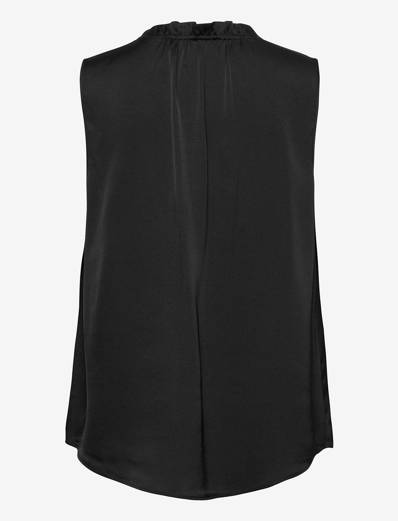 SAND - Satin Stretch - Raya F - blouses sans manches - black - 1