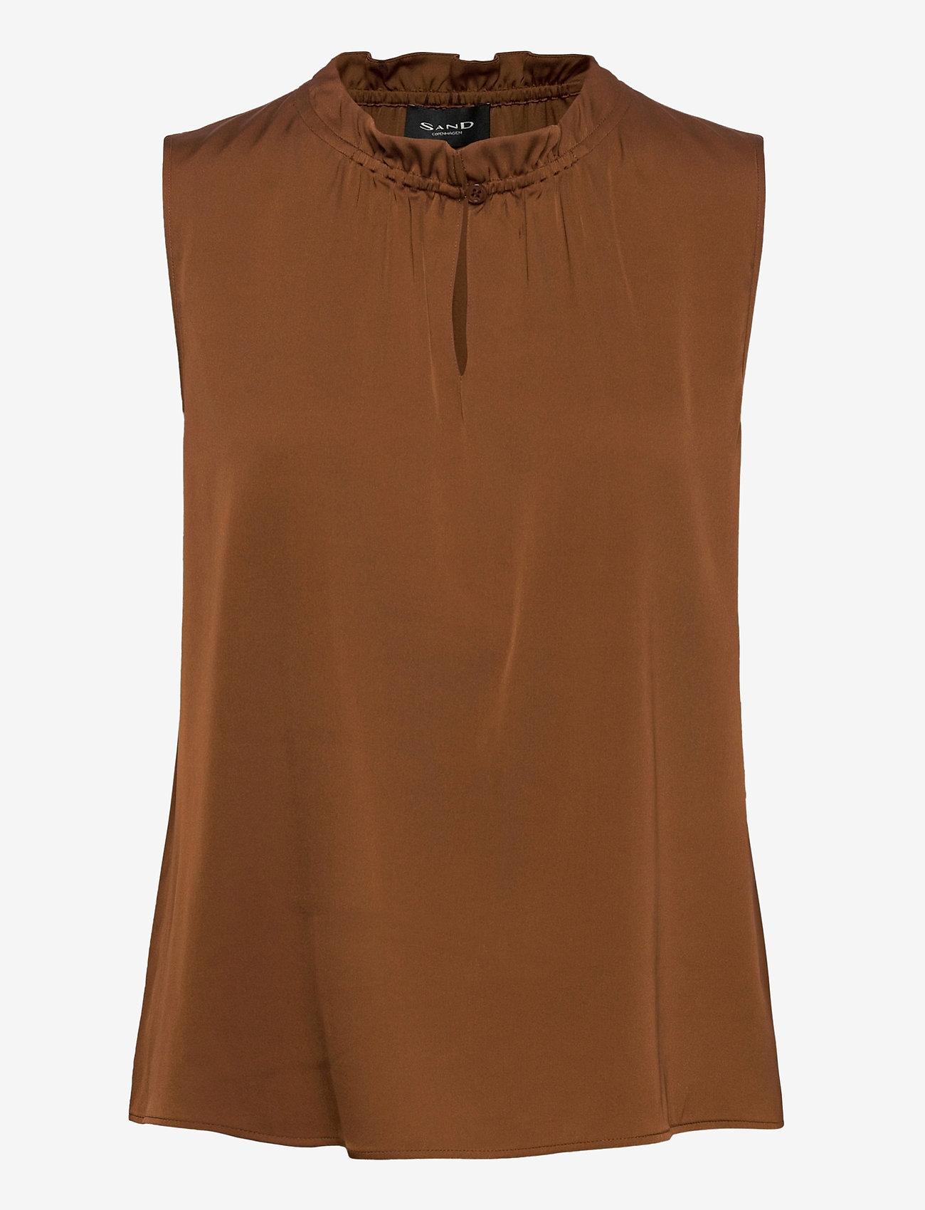 SAND - Satin Stretch - Raya F - blouses zonder mouwen - copper - 0