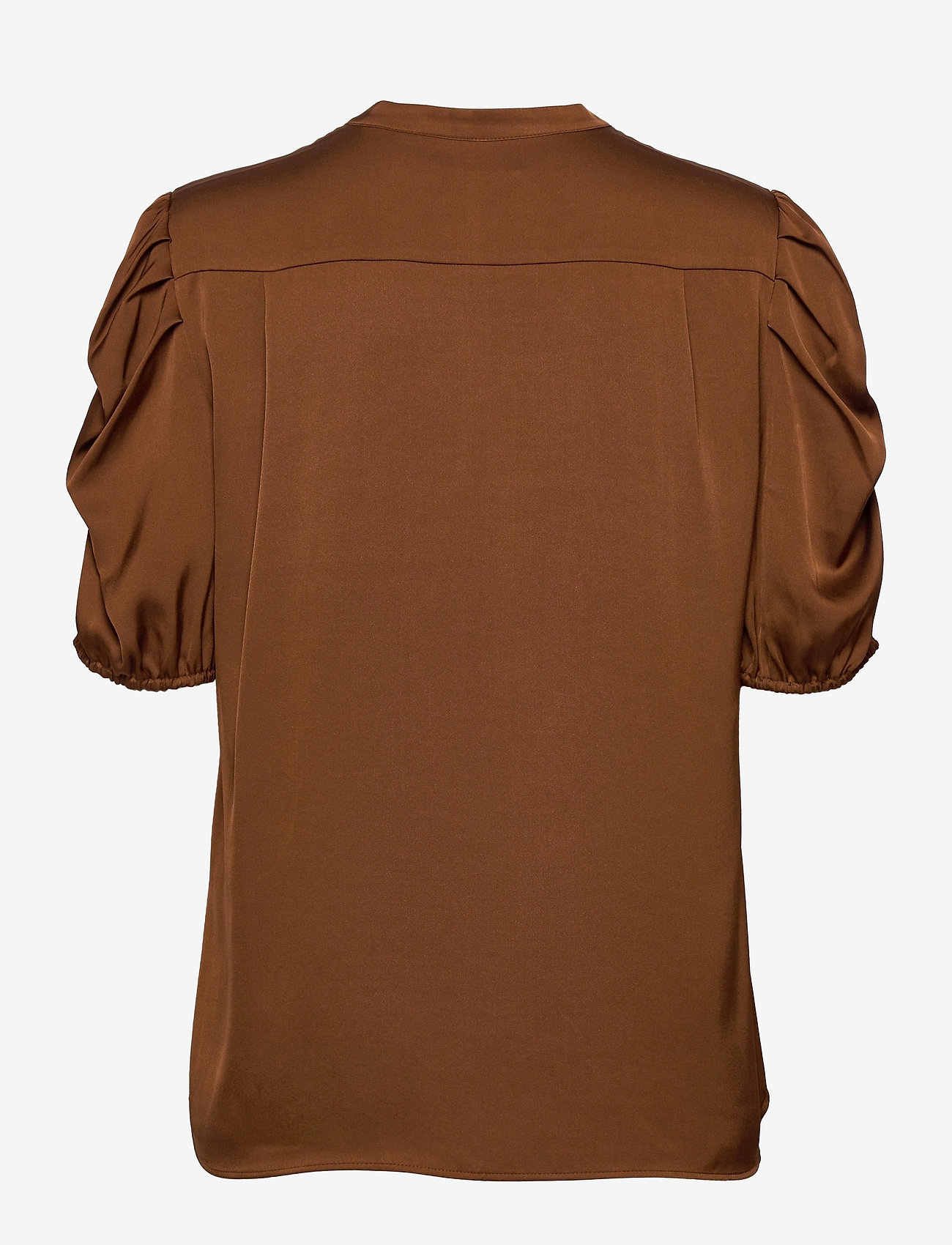 SAND - Satin Stretch - Naolin - blouses met korte mouwen - copper - 1