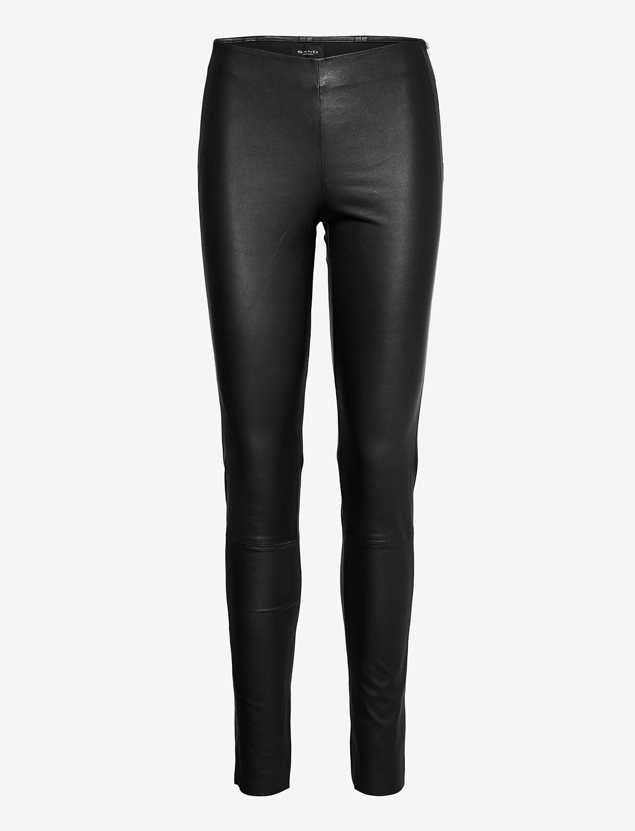 SAND - Stretch Leather - Shamar - pantalons en cuir - black - 0