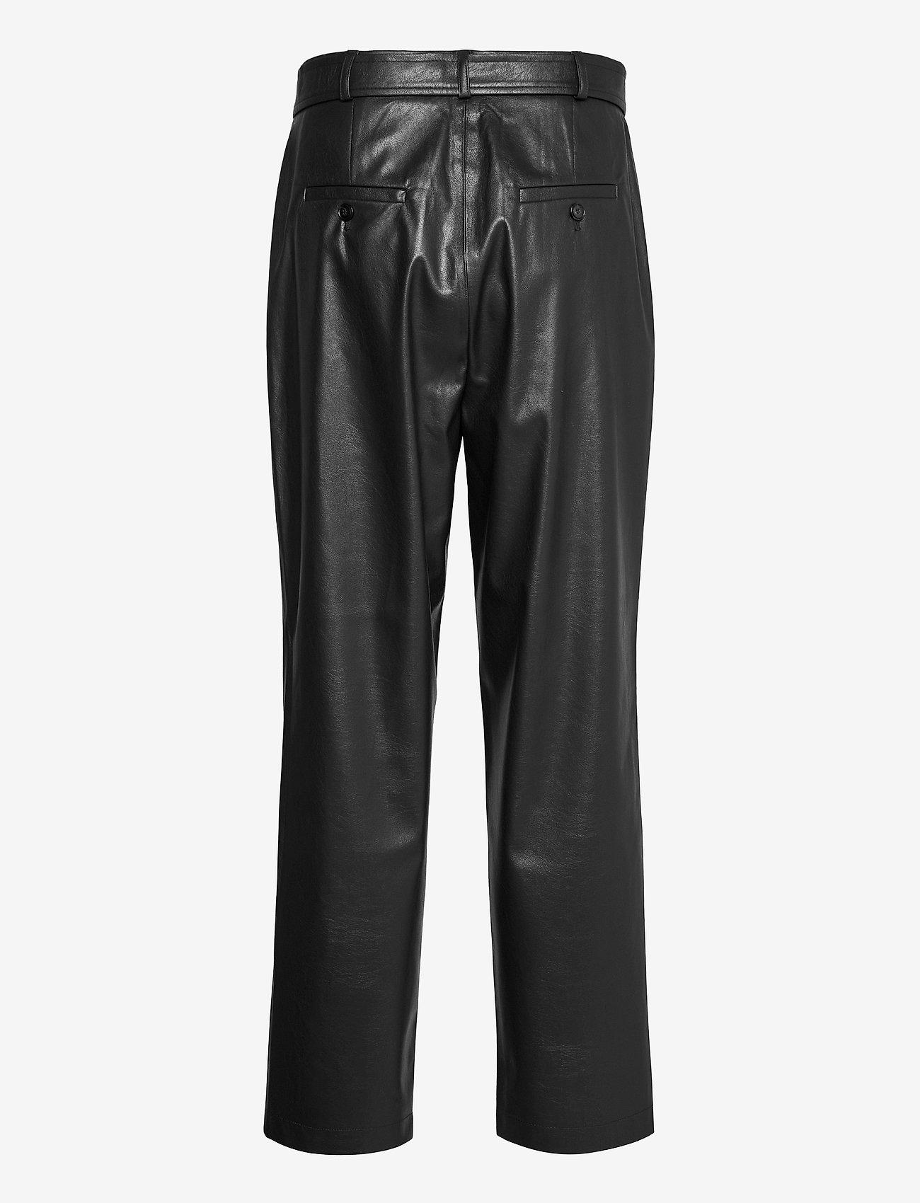 SAND - Vegan Leather - Haim - skinnbyxor - black - 1