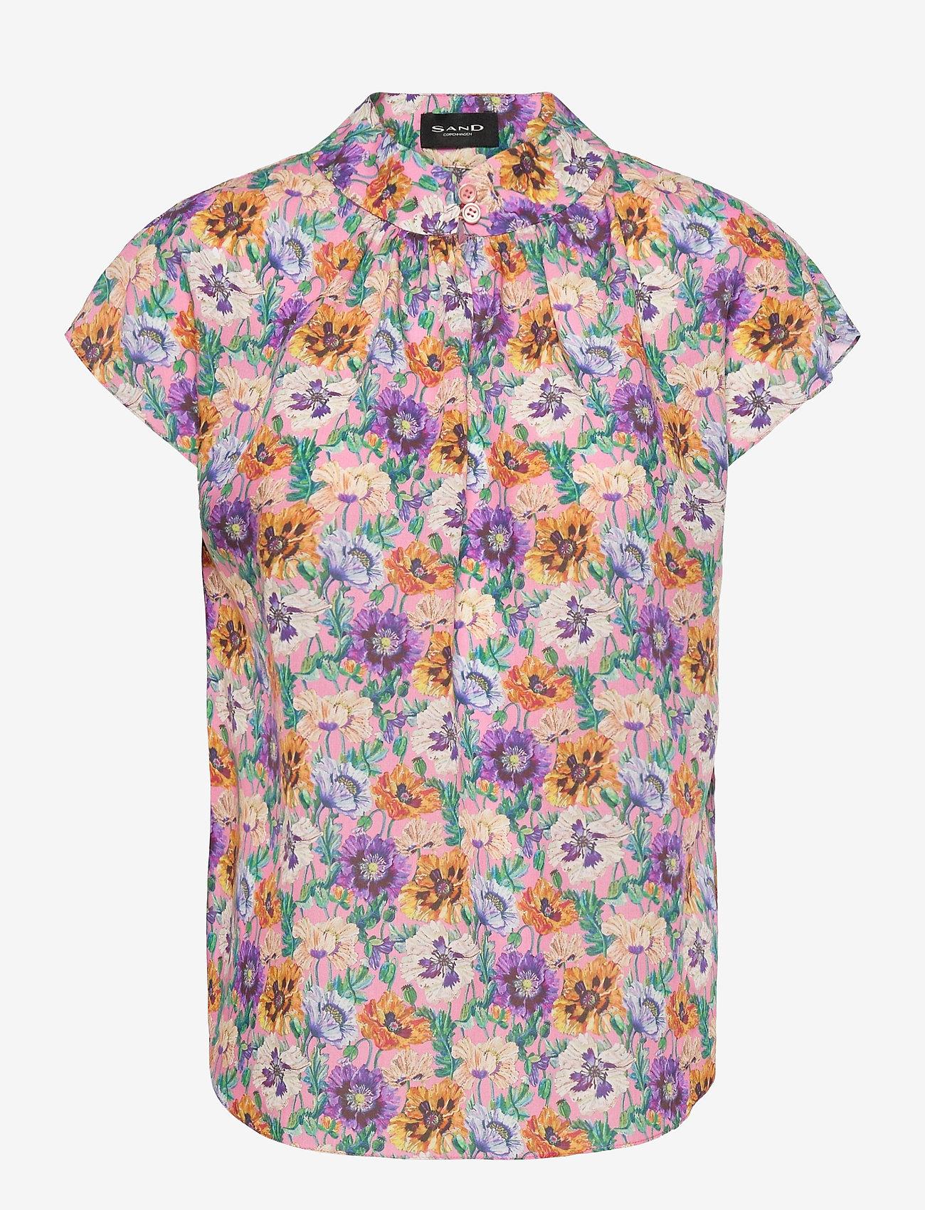 SAND - 3419 - Prosi Top S - blouses met korte mouwen - pink - 0