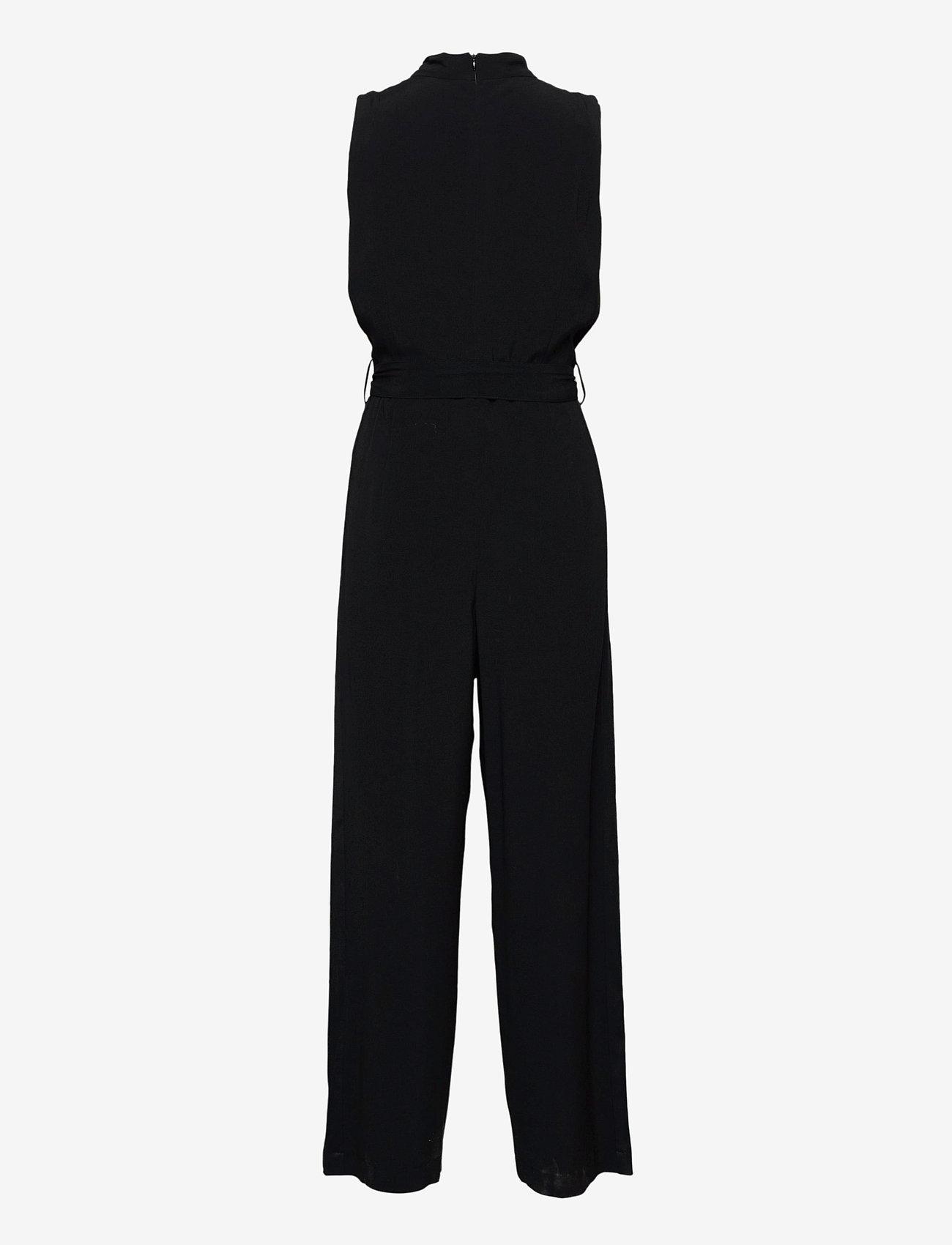 SAND - Crepe Satin Back - Whitney NT - jumpsuits - black - 1