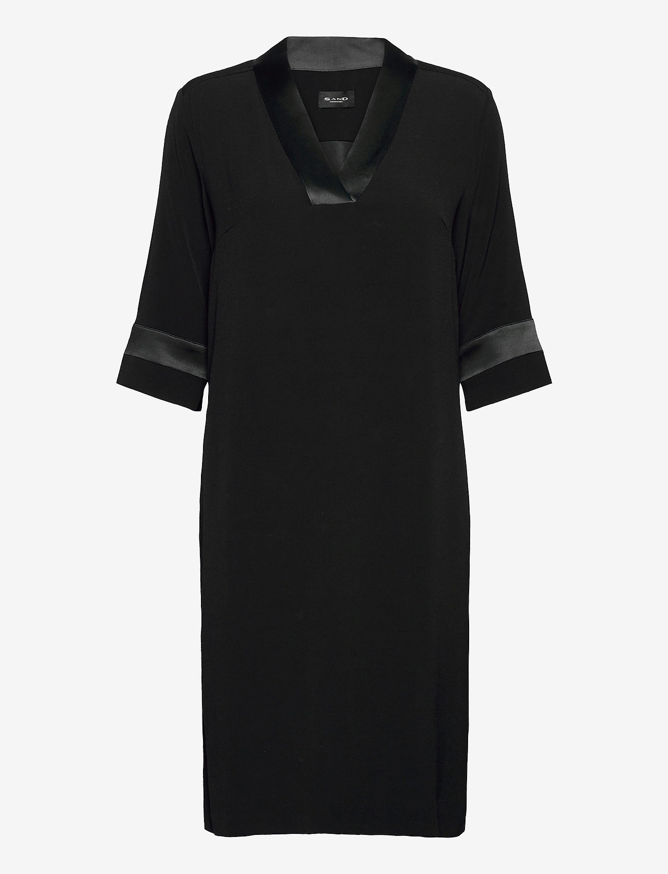SAND - Crepe Satin Back - Ambar - robes de jour - black - 0