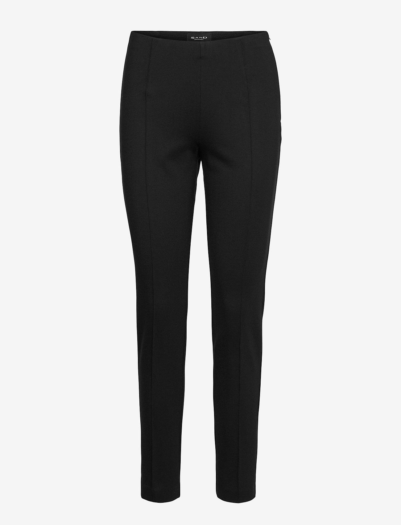SAND - 2548 - Malhia - pantalons slim fit - black - 0