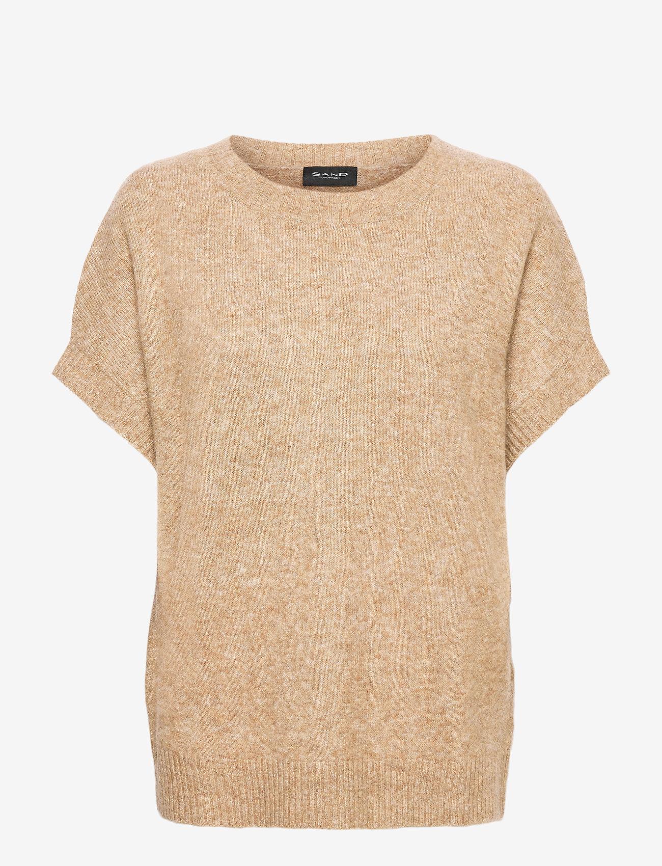 SAND - 5210 - Izadi - hauts tricotés - camel - 0