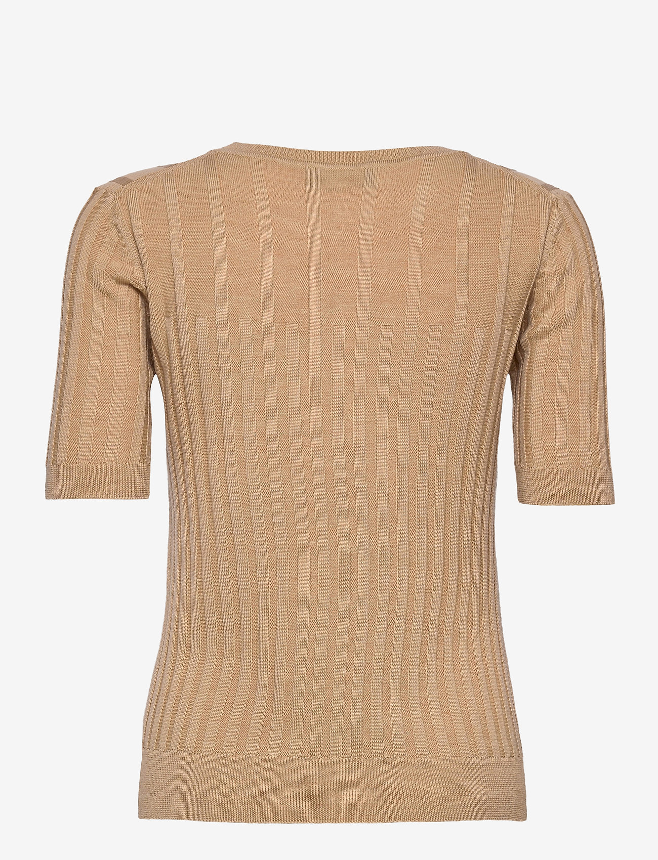 SAND - Fellini F - Leanna - gebreide t-shirts - light camel - 1