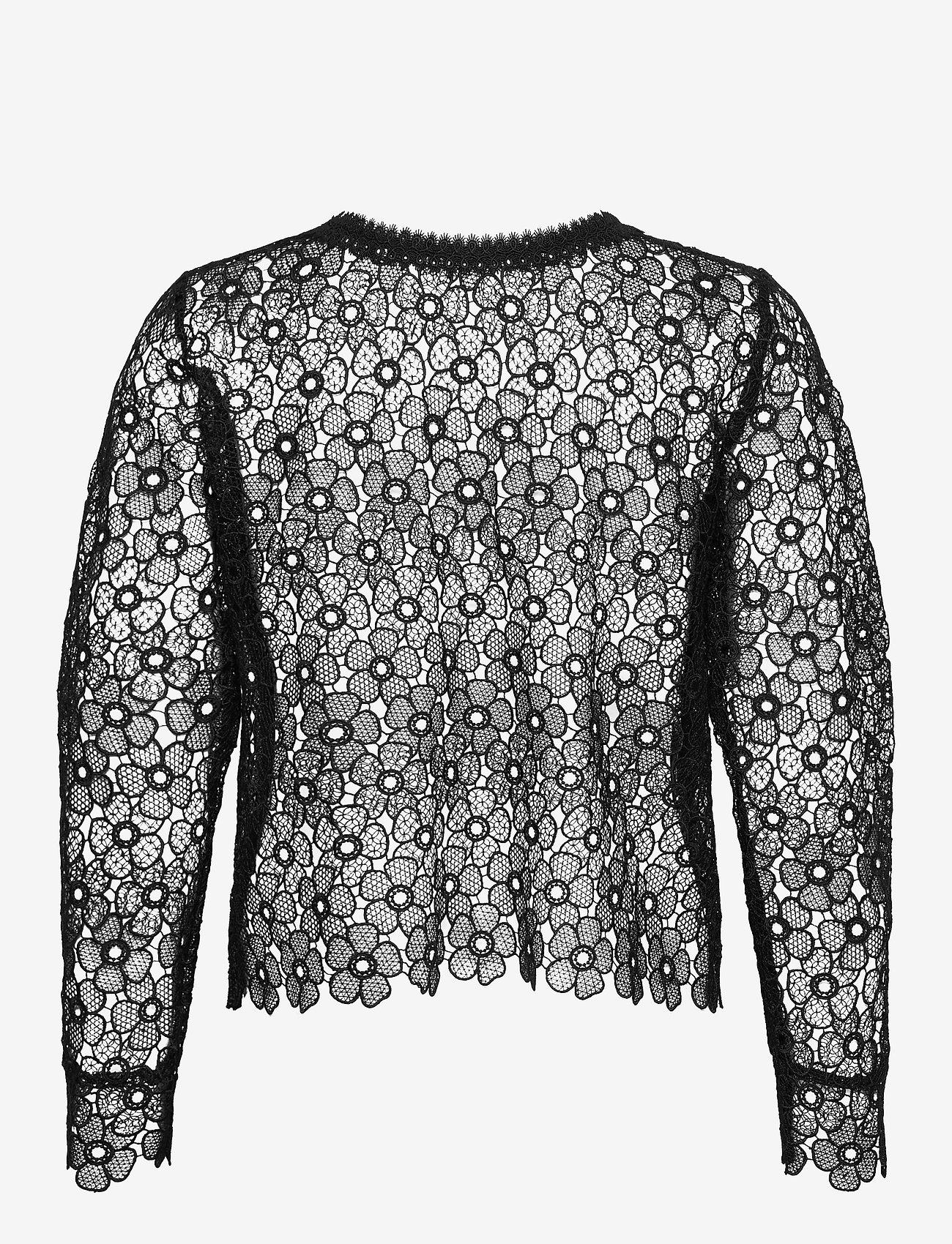 SAND - 3177 - Valentine - long sleeved blouses - black - 1